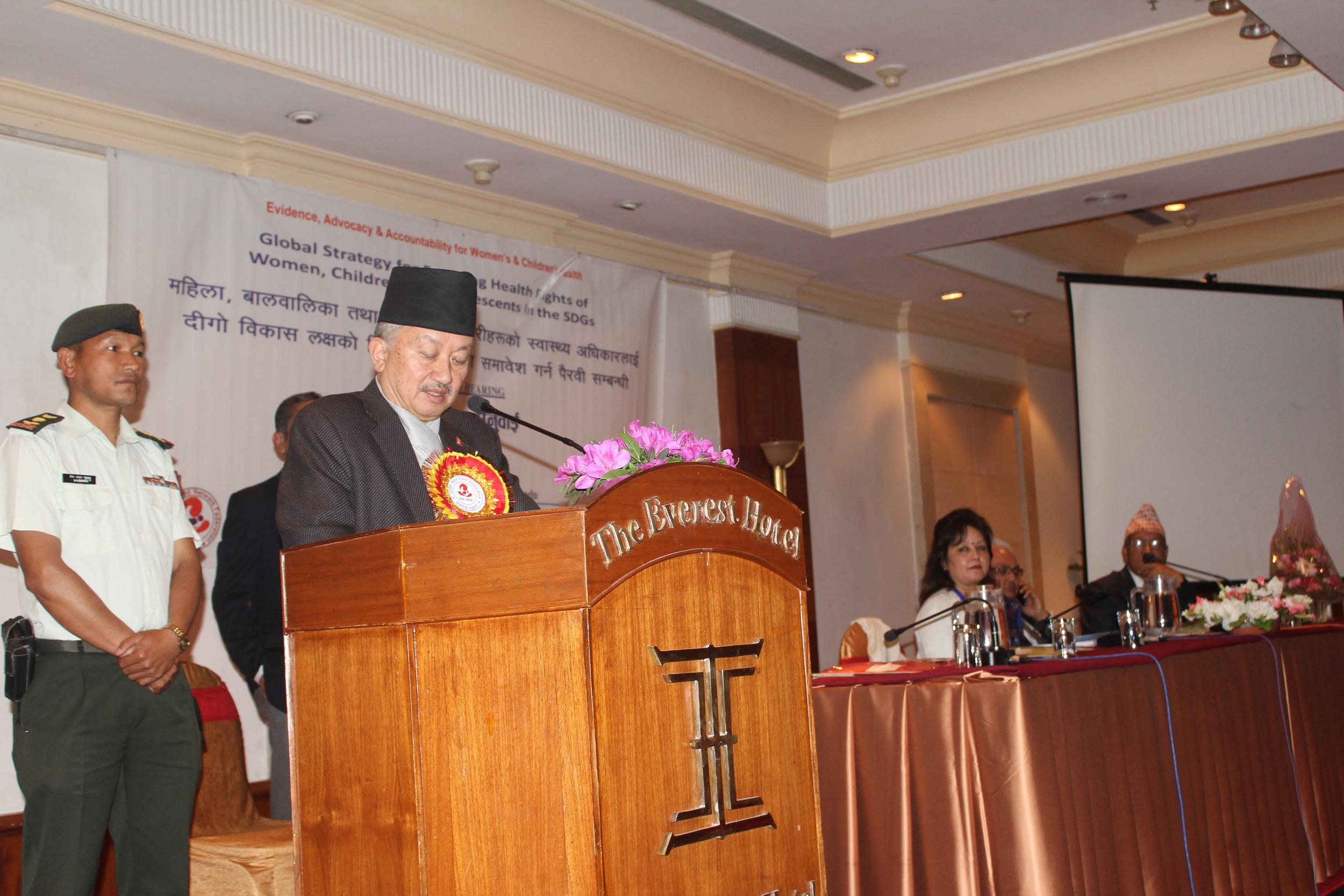 Hon. Mr. Subhash Chandra Nembang, Speaker, Constituent Assembly.JPG