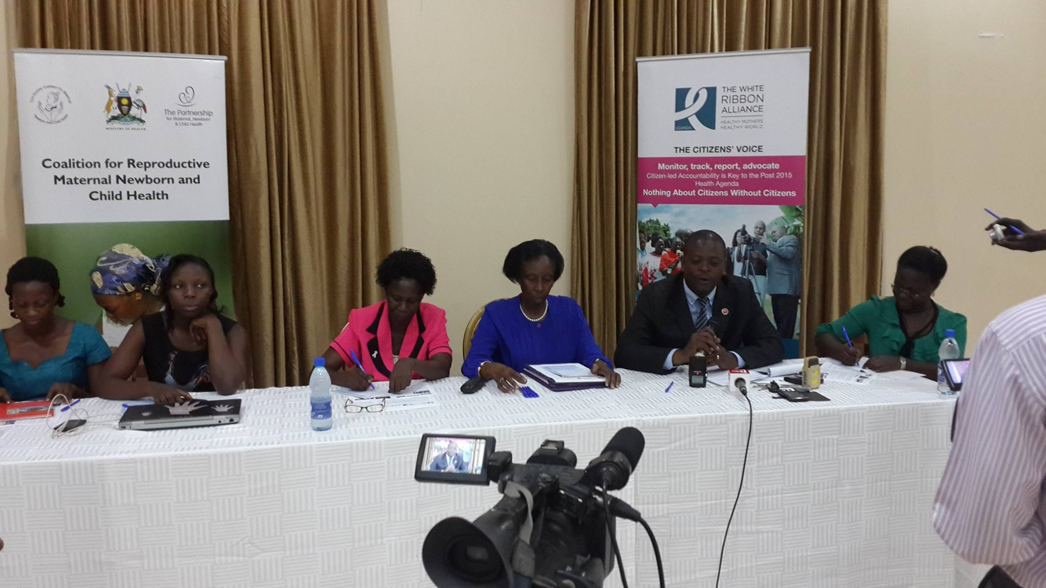 Member of Parliament Hon. Lulume Dr Bayigga Lulume Ssalongo (2nd R) addresses the press during the launch of the Citizens Hearing Global Report today at Imperial Royale Hotel in Kampala.jpg