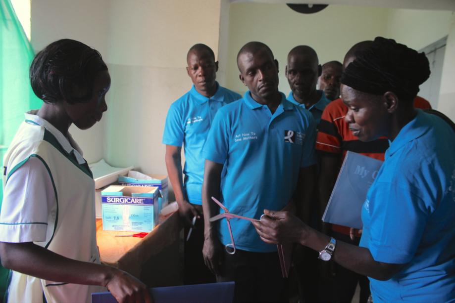 Community Monitors checking Health Centres