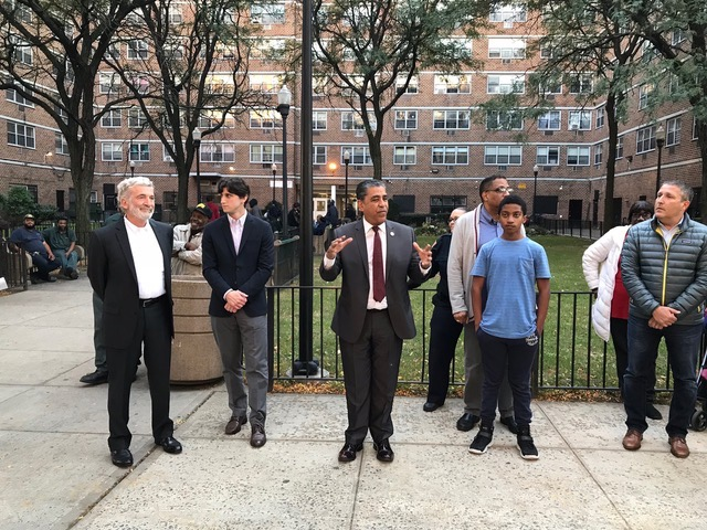 The Congressman, the landlord of the housing we targeted and some of our staff that helped out.