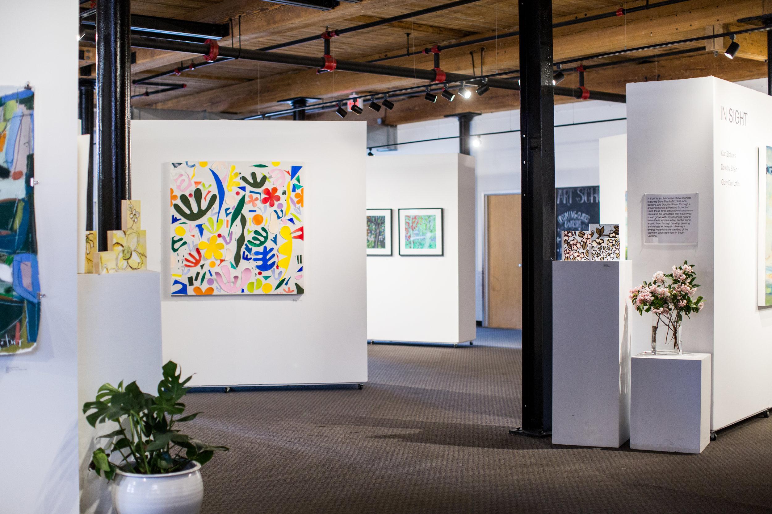 Gallery (art in photo: Dorothy Shain, Glory Day Loflin)