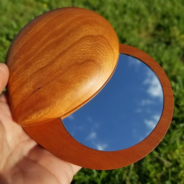 Three of these mirrors are available now on my website shop. They're made out of exceptionally beautiful cherry and finished with a matte, no-voc finish. Go on'n'getum!
