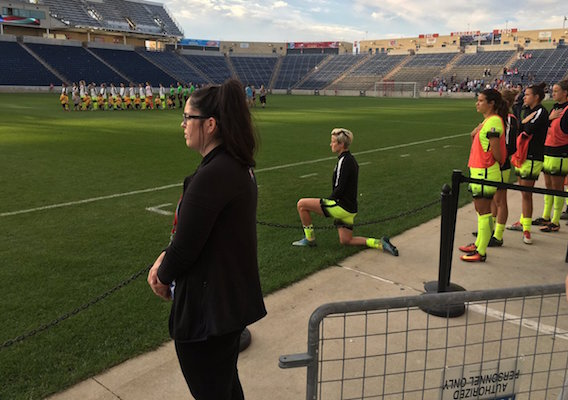 """""""Why don't you try to kneel at home where no one can see you? That way HAO can get on page 46 of the New York Times."""""""