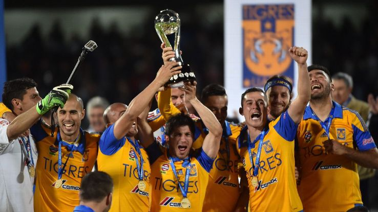 Tigres! The Champion! Bicampeonato? -- oh... wait... was that Spanish? You just checked out from this photo caption, didn't you?
