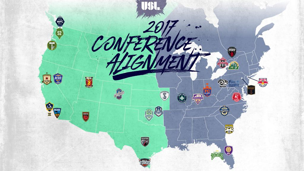 WOooooooooooooooooo wait.... rhat's where Richmond is? Then, ok... wait Rochester is up by Toronto?  photo: uslsoccer.com