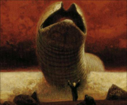 HIS PROBE IS A KILLING WORD!  Cover art from  Heretics of Dune  by Frank Herbert