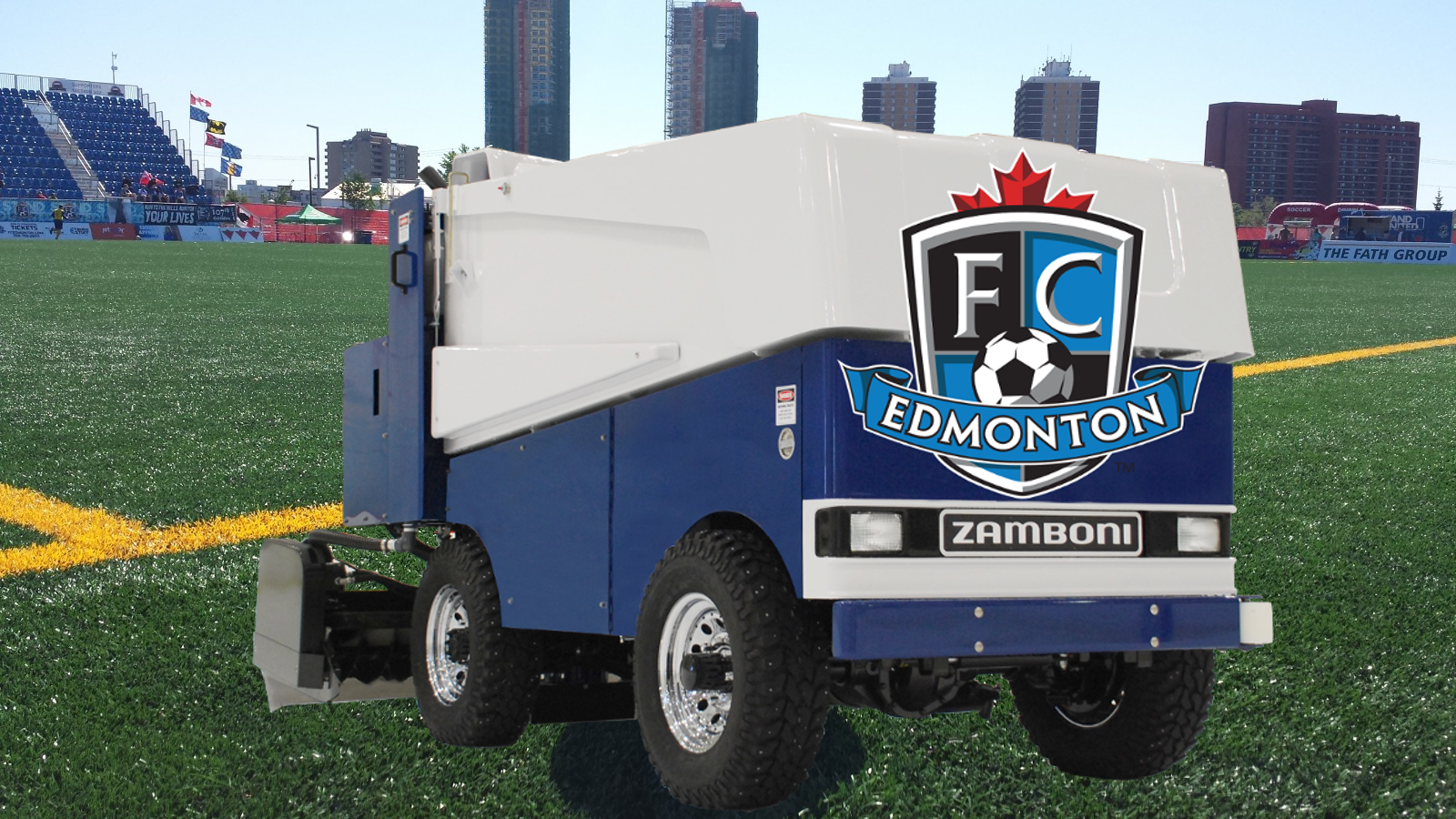 The FC Edmonton Zamboni in hover mode.... apparently.... c'mon people.... is this the best we can do?
