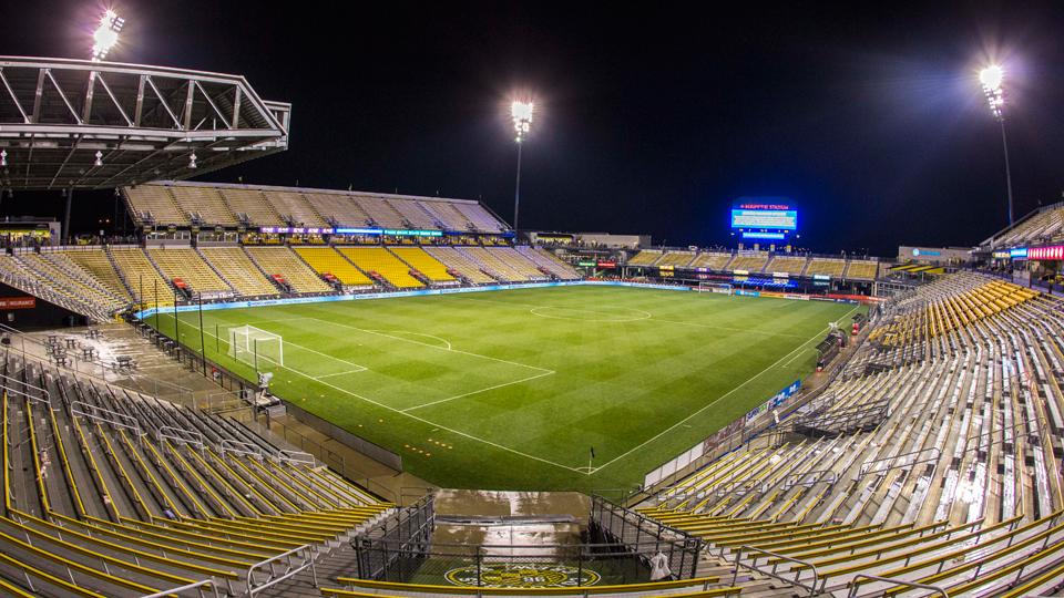 Custom built stadium for soccer in Columbus.