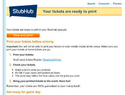 image about Stubhub Printable Tickets called Male Migrates Prized Assortment Of StubHub Football Ticket