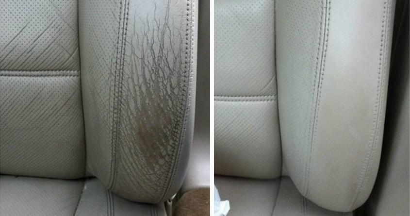 Upper Bolster Leather Dye Repair