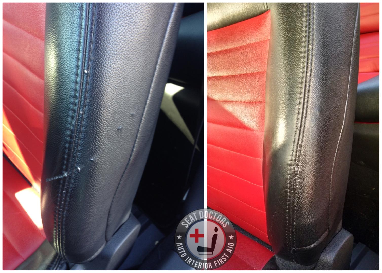 Vinyl Repair Before After Seat Doctors