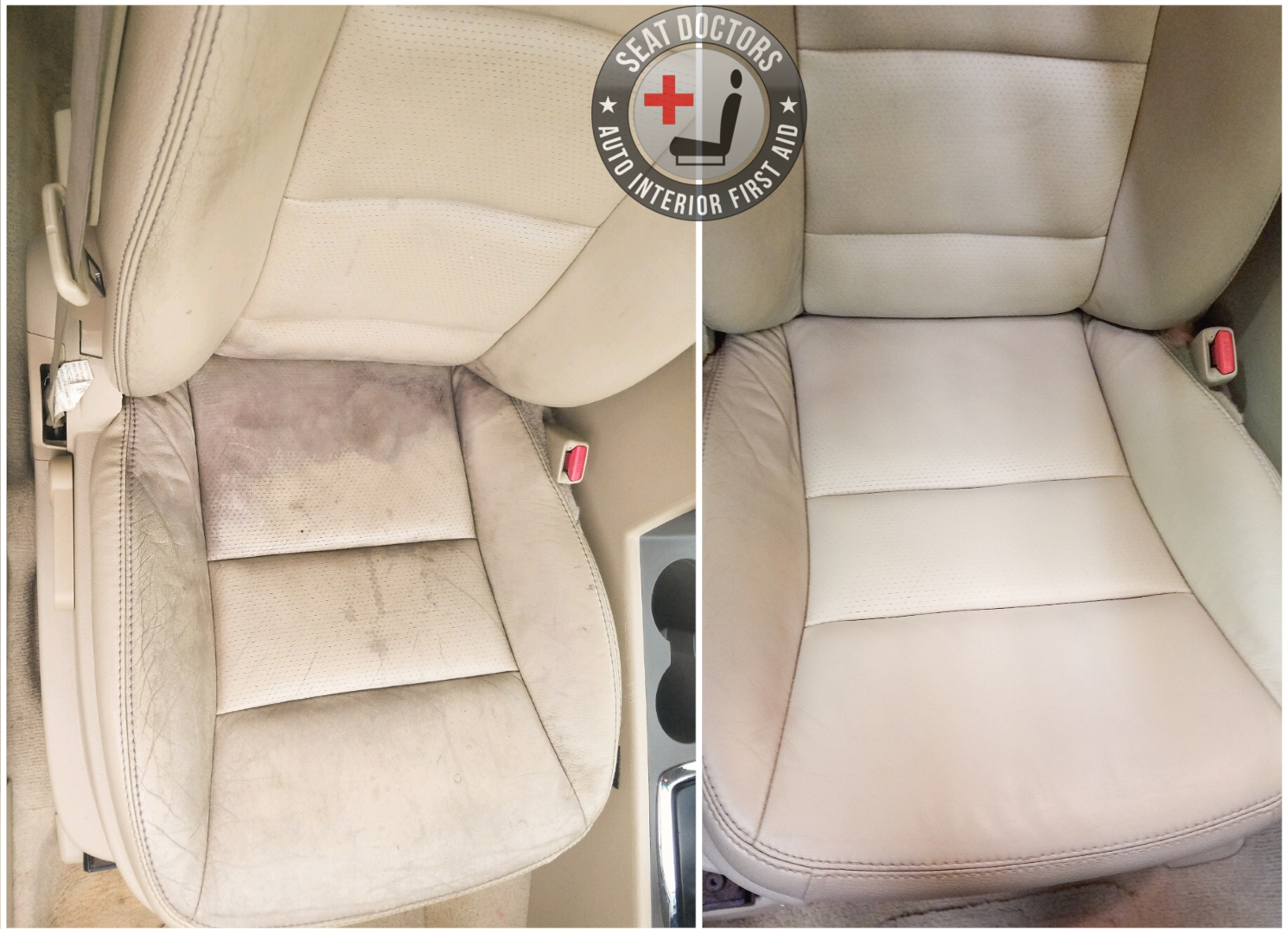 Leather Dye Restoration -- 2008 Ford Fusion Passenger Seat