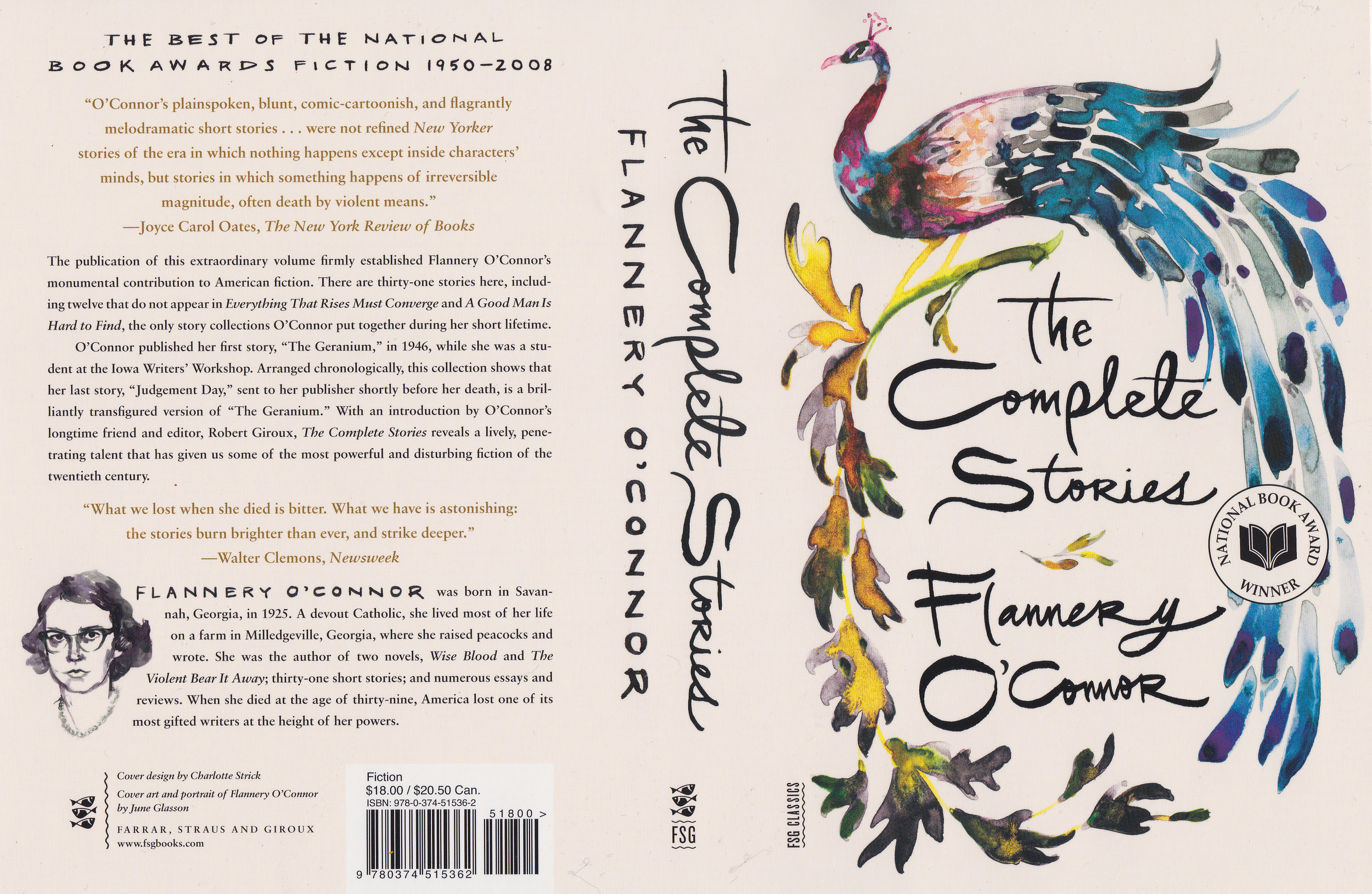 THE COMPLETE STORIES  BY FLANNERY O'CONNOR  FARRAR, STRAUS, AND GIROUX 2014 |DESIGN BY CHARLOTTE STRICK