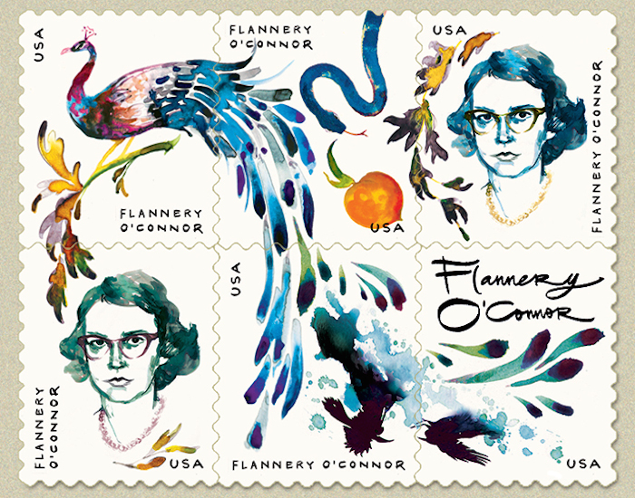 STAMP MOCK-UP FOR  THE PARIS REVIEW  BY CHARLOTTE STRICK