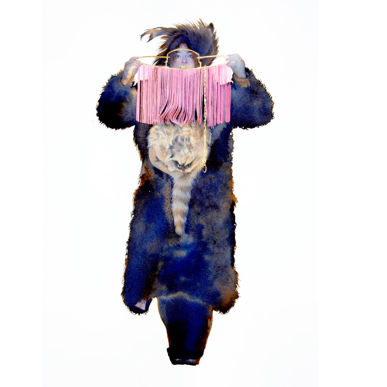 """Pink Trap  Ink, gouache, & pencil  30"""" x 22""""  Contact  Kenise Barnes Fine Art"""