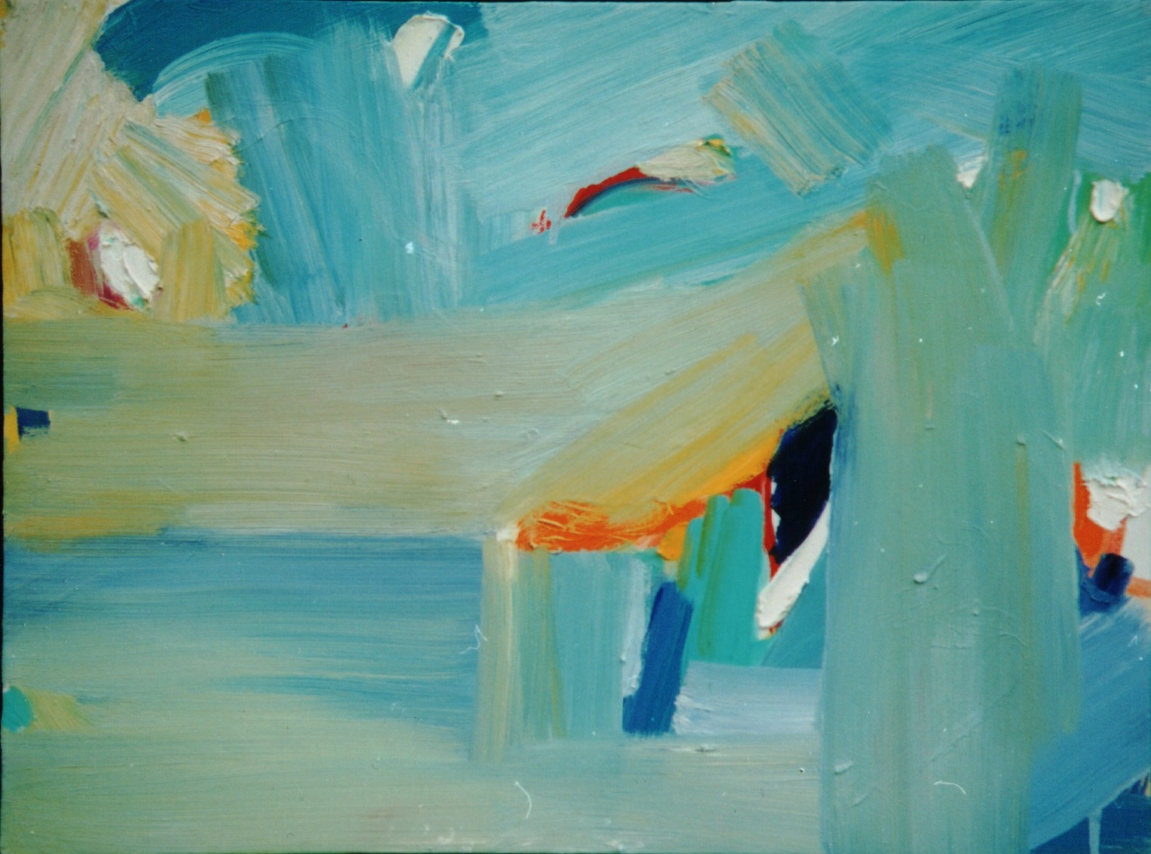 """Blue Horizon  Oil on canvas 18"""" x 24"""" 1999  Private Collection Boulder CO"""