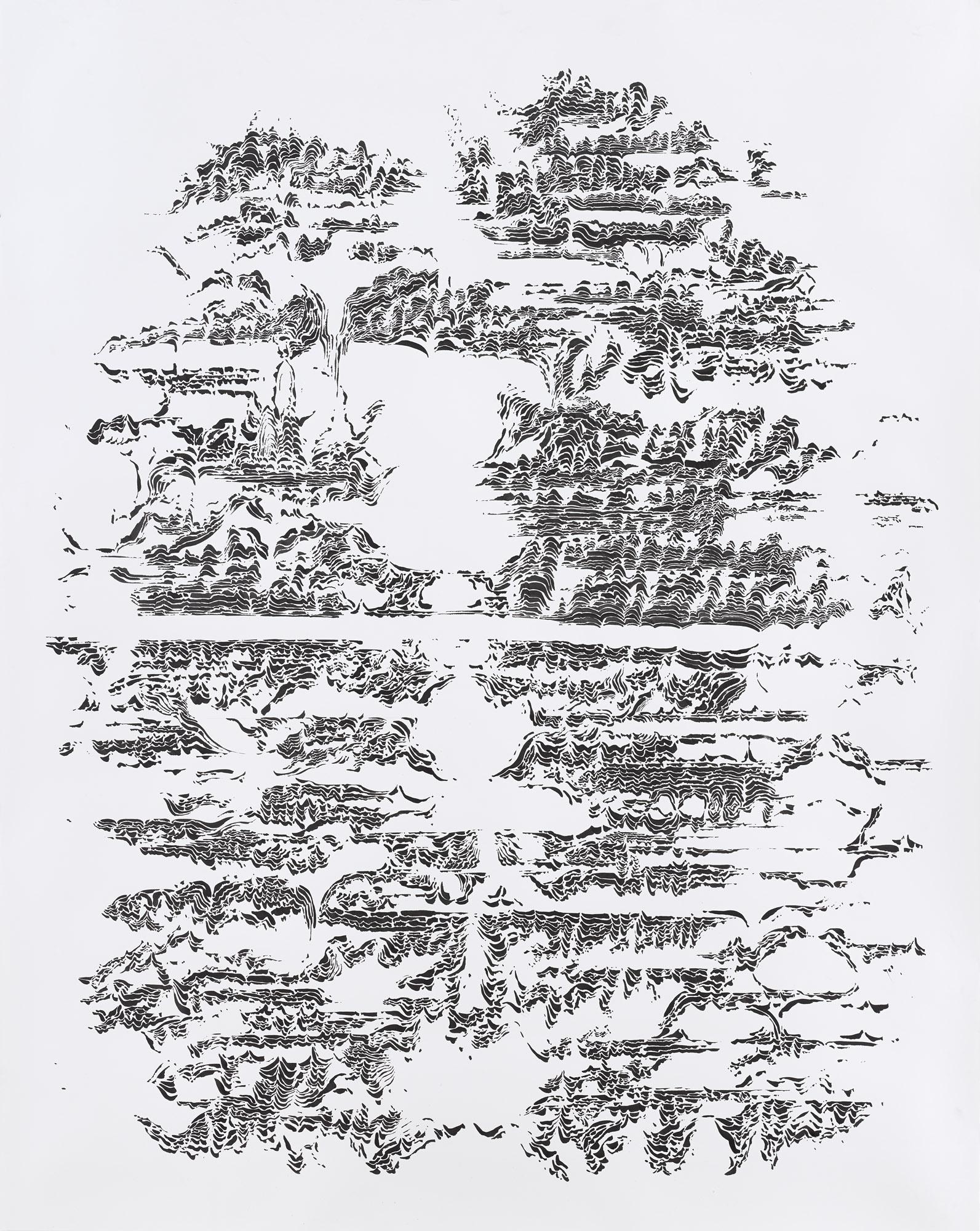 BK P7438 | untitled | ink on paper | 200x150cm | 2015