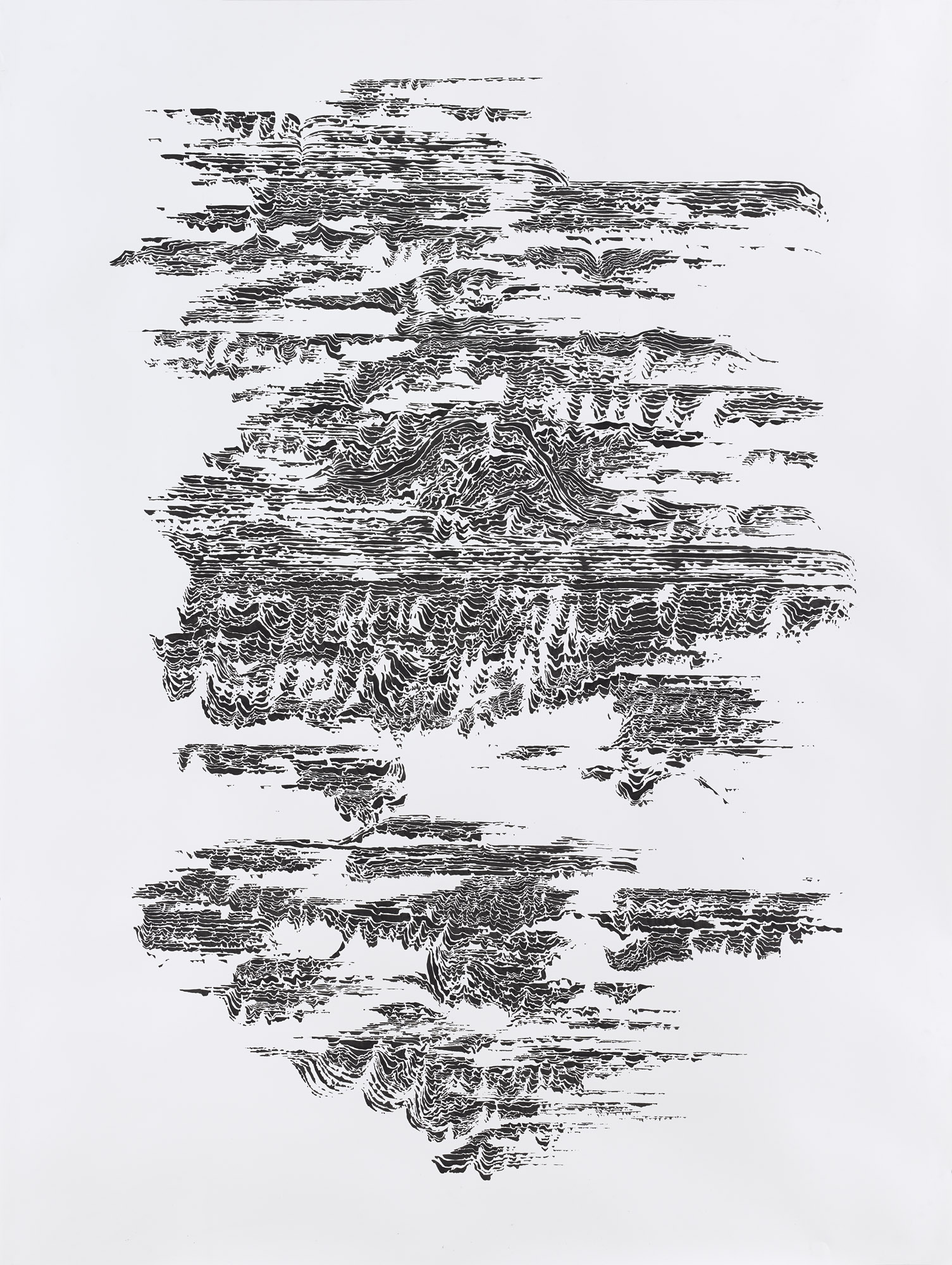 BK P7440 / untitled / ink on paper / 200x150cm / 2015 | private collection berlin