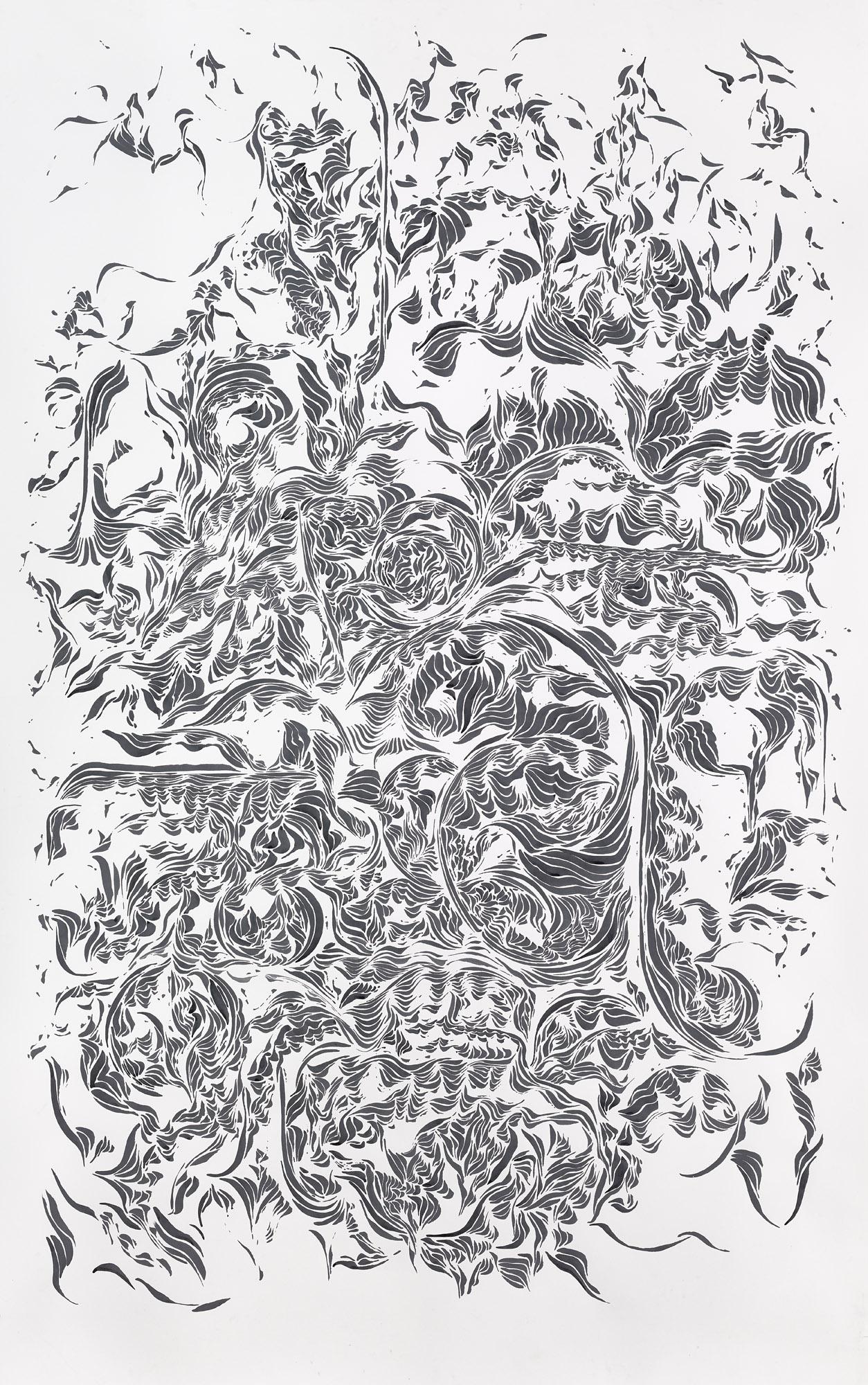 BK P11154 / untitled / ink on paper / 250x150cm / 2015