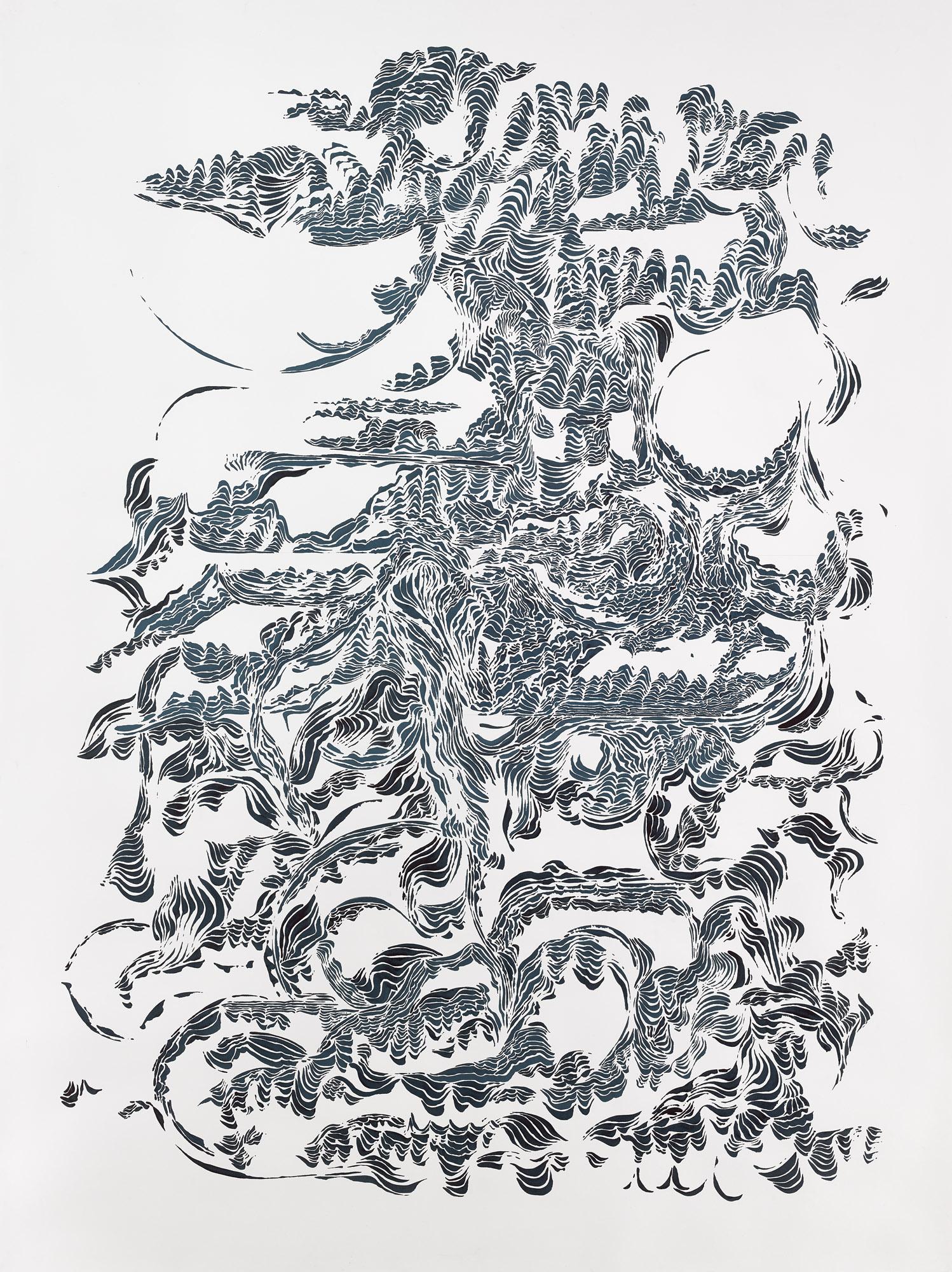 BK P11160 / untitled / ink on paper / 200x150cm / 2015