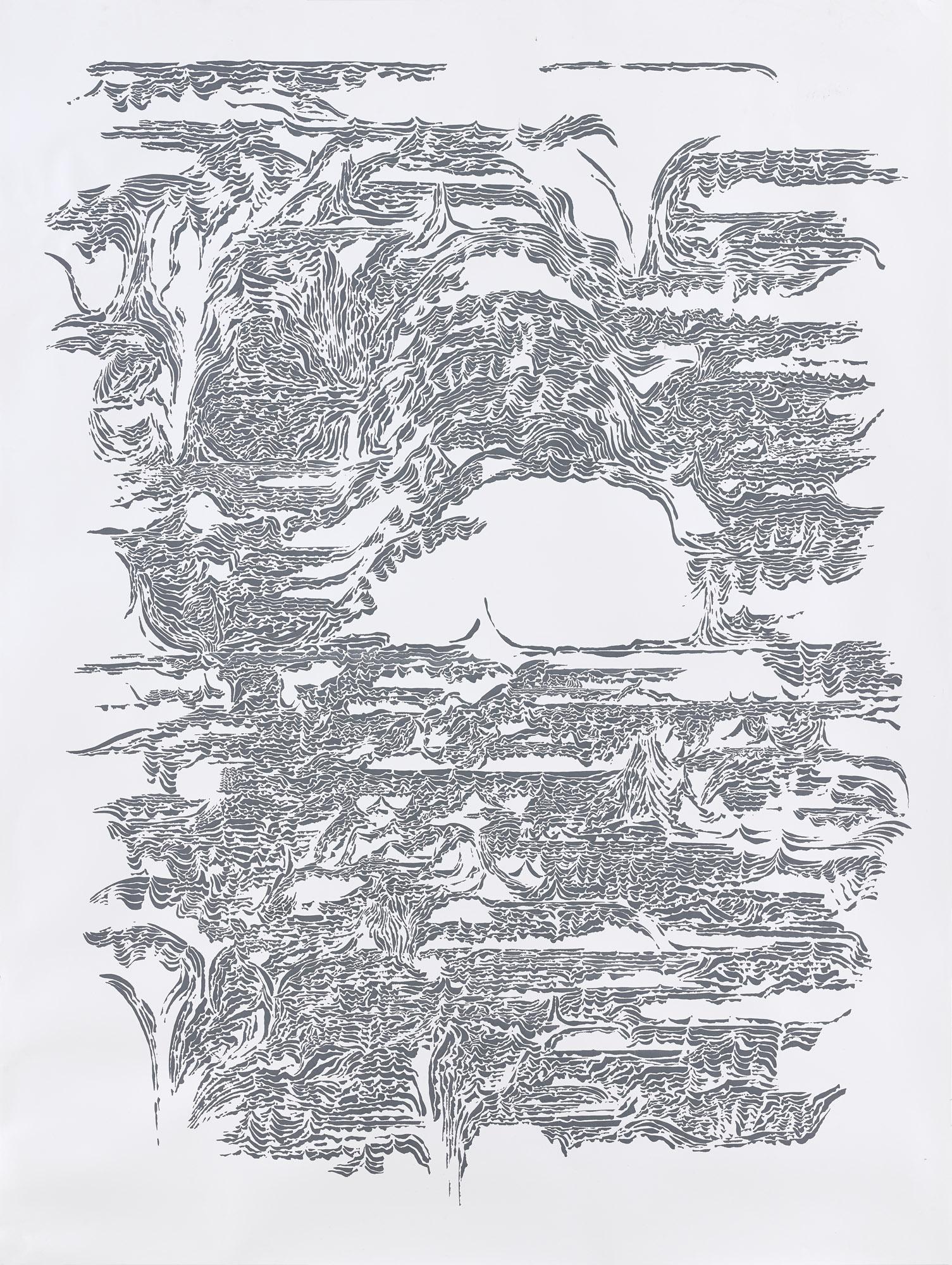 BK P7439 / untitled / ink on paper / 200x150cm / 2015