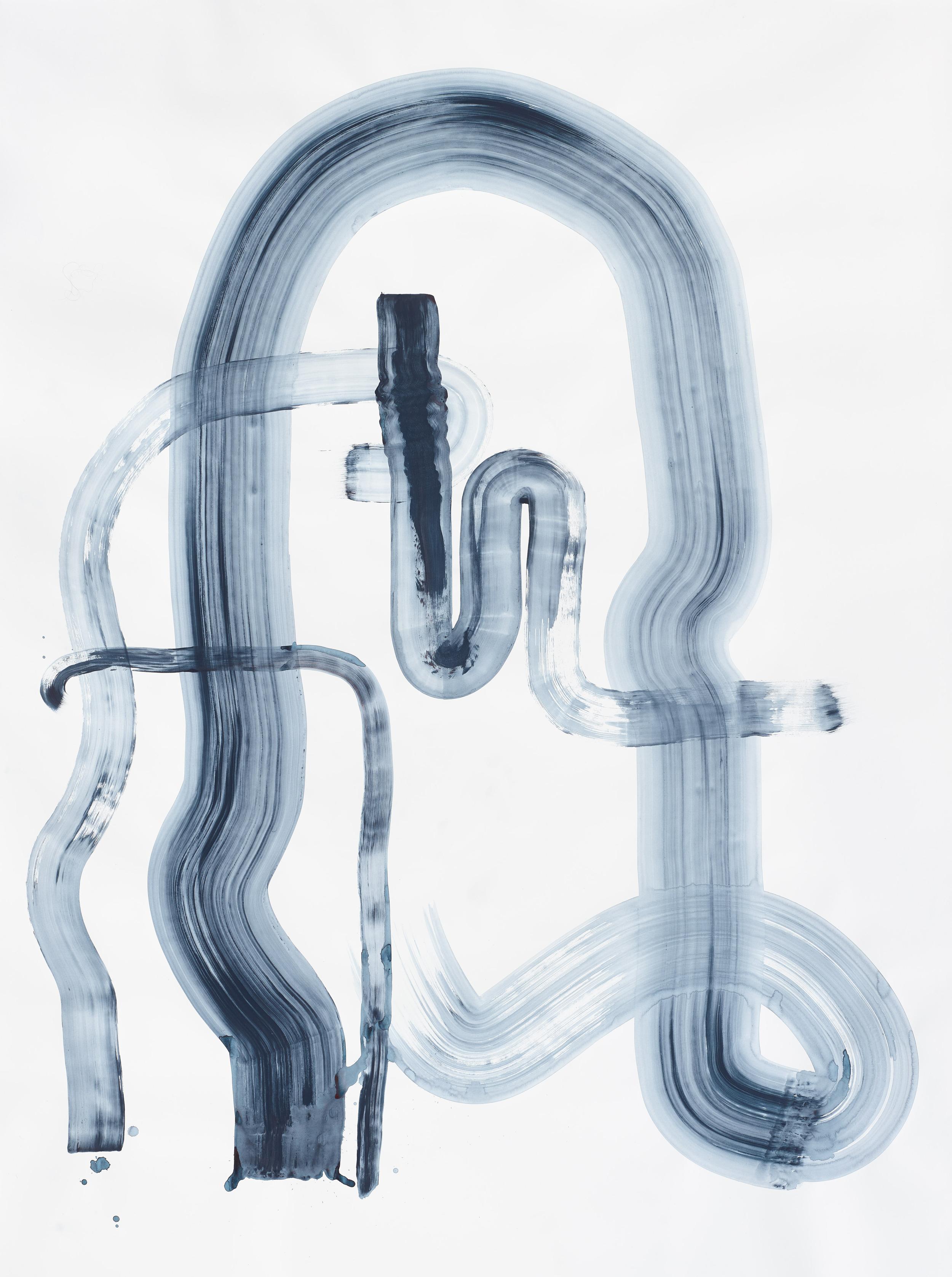 BK P0839 | untitled | acrylic paint on paper | 200x150cm | 2015