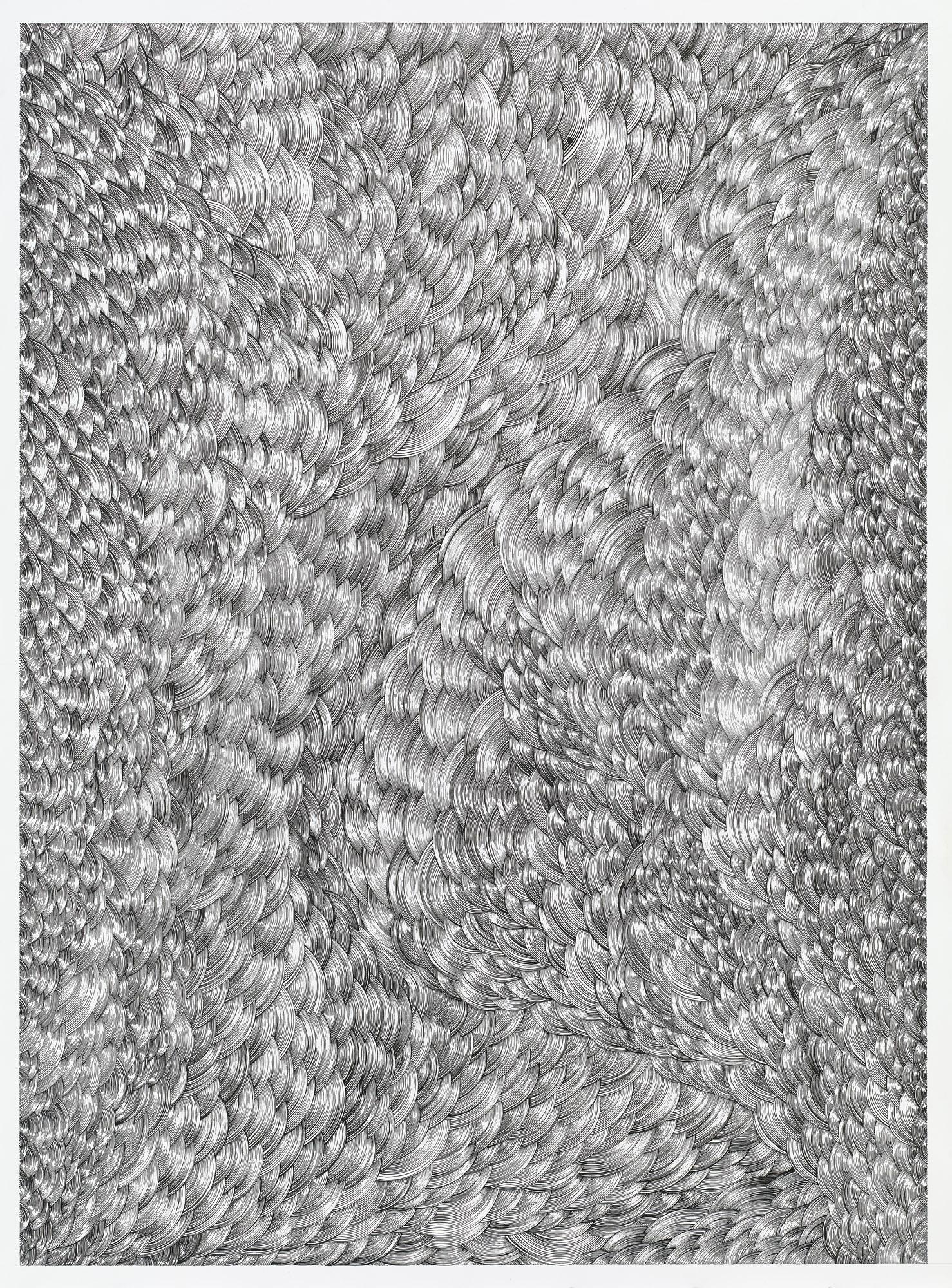 BK P158 | diptychon part A | untitled | acrylic on paper | 200x170cm | 2014 | collection kunstwerk Alison & Peter W. Klein
