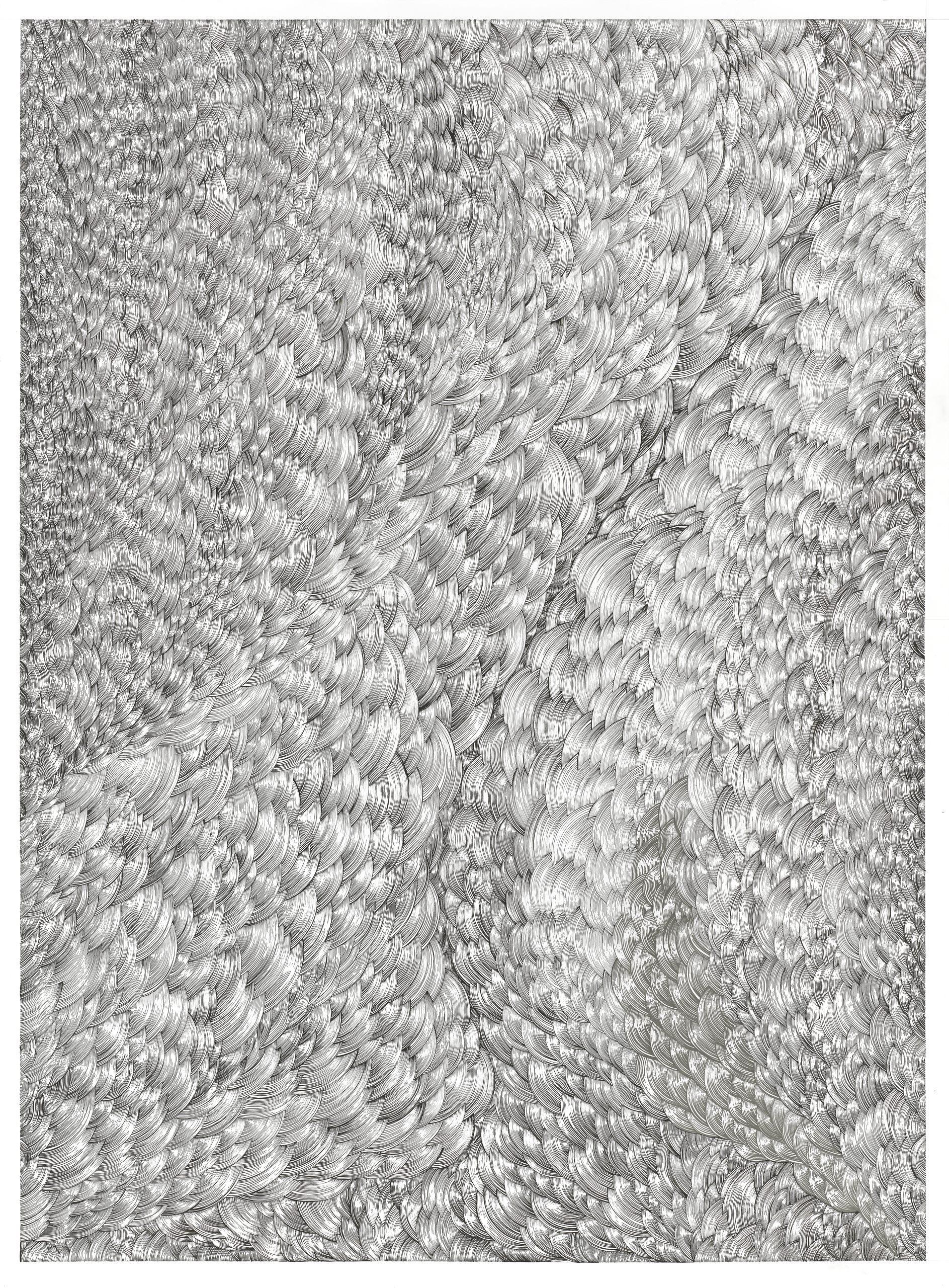 BK P158 | diptychon part B | untitled | acrylic on paper | 200x170cm_2014 | collection kunstwerk alison u. peter w. klein