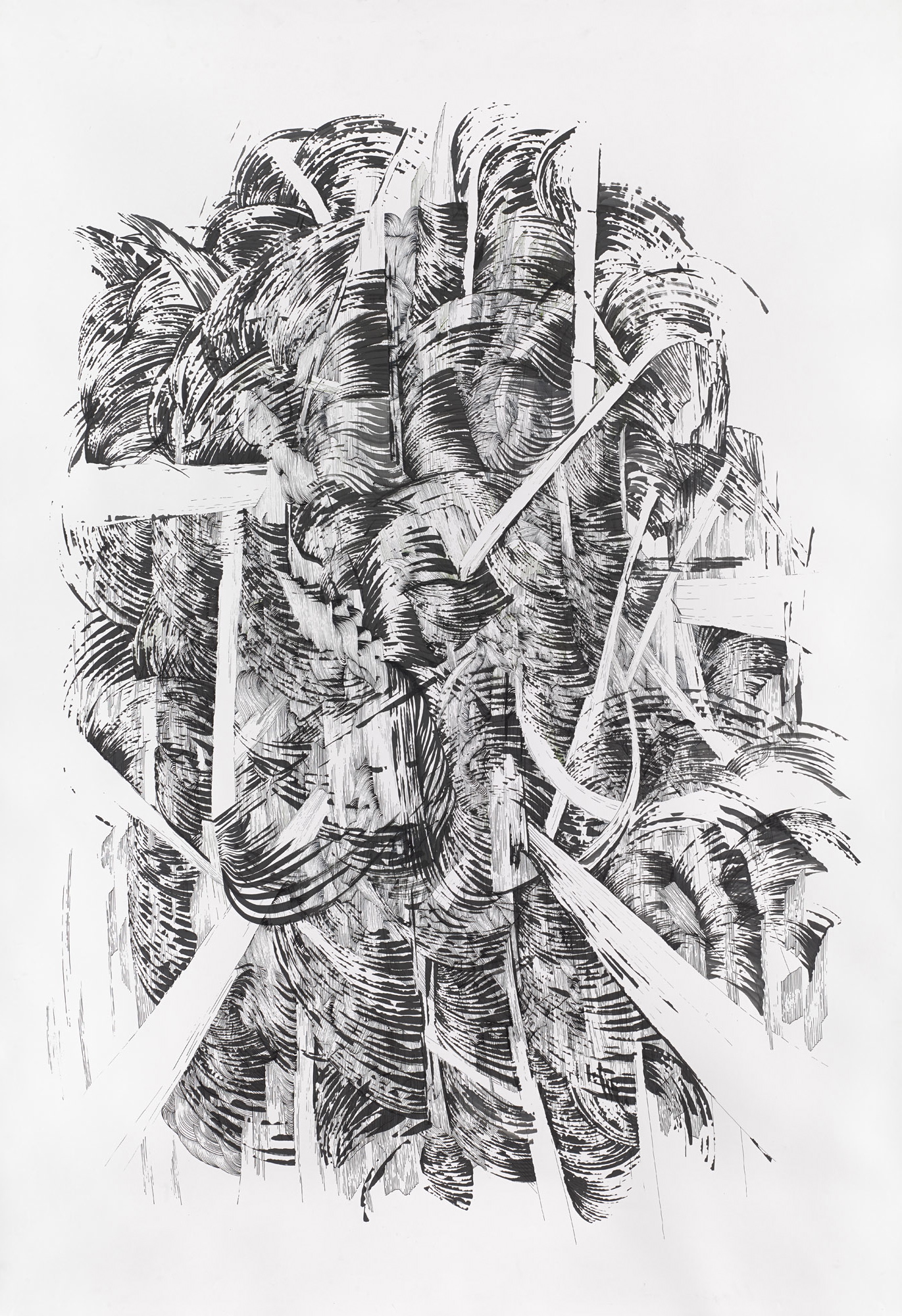 BK P164 1 | untitled | ink on paper | 200x150cm | 2014 | private collection stuttgart