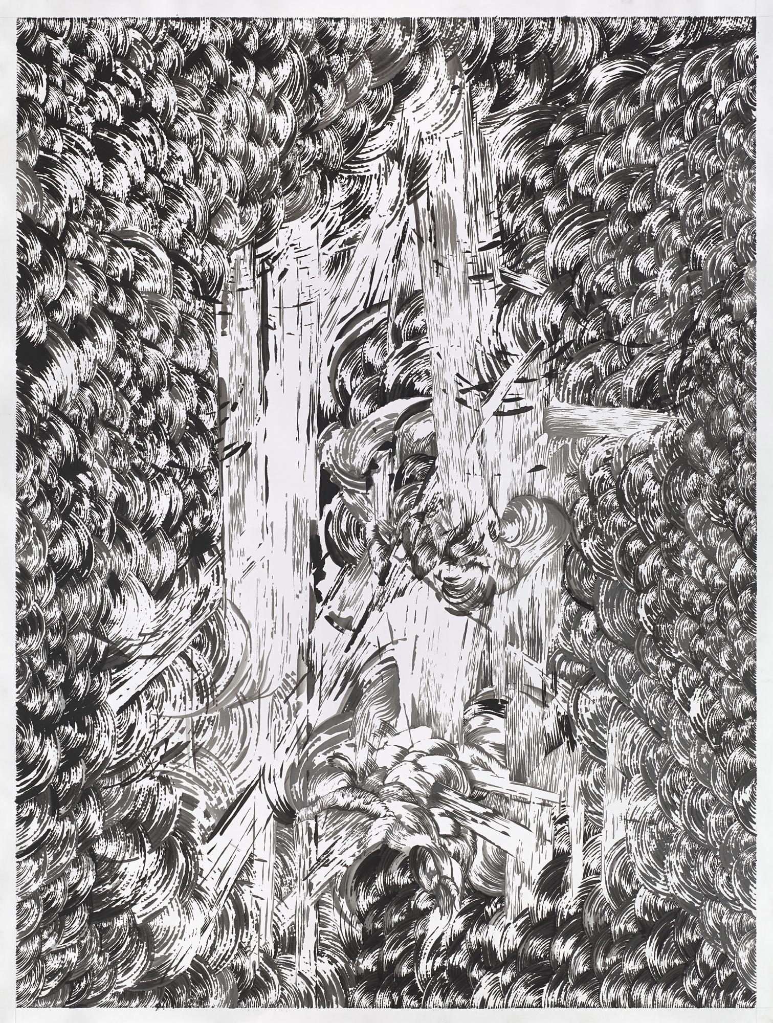 BK P164 2 | untitled | ink on paper | 200x150cm | 2014