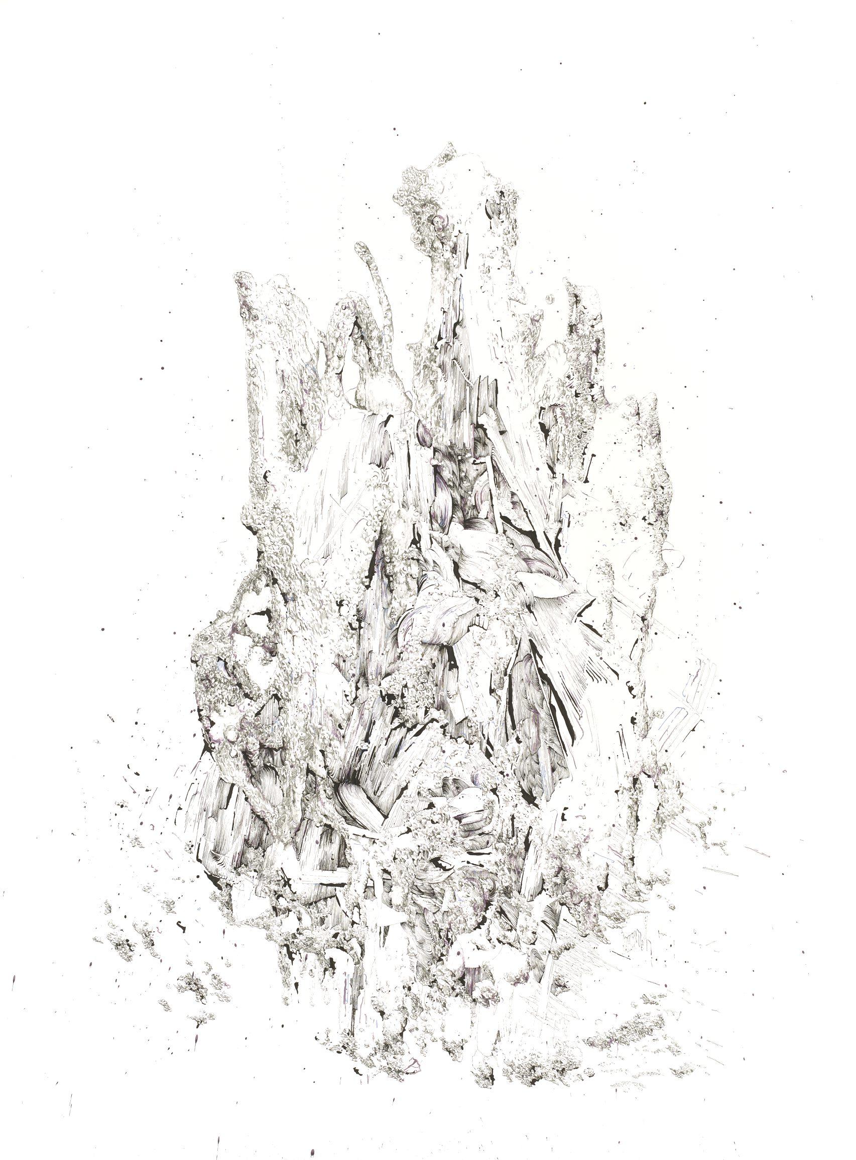 BK P133 | untitled | ink & graphit on paper | 200x150cm | 2013