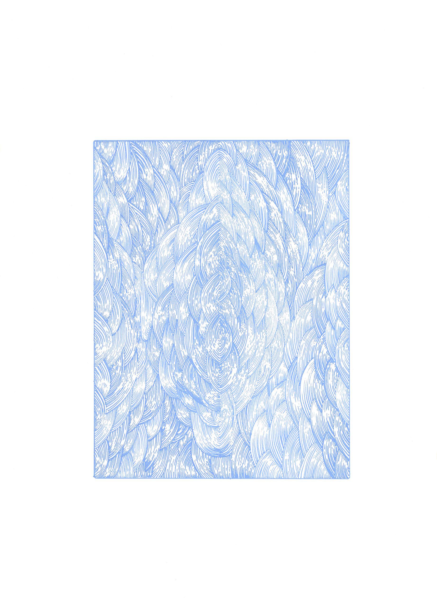BK P155 | untitled | blue acrylic on paper | 2013