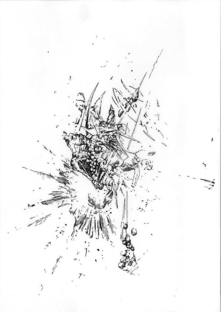 BK P116 | untitled | ink on transparent paper | 29,5x21cm | 2012