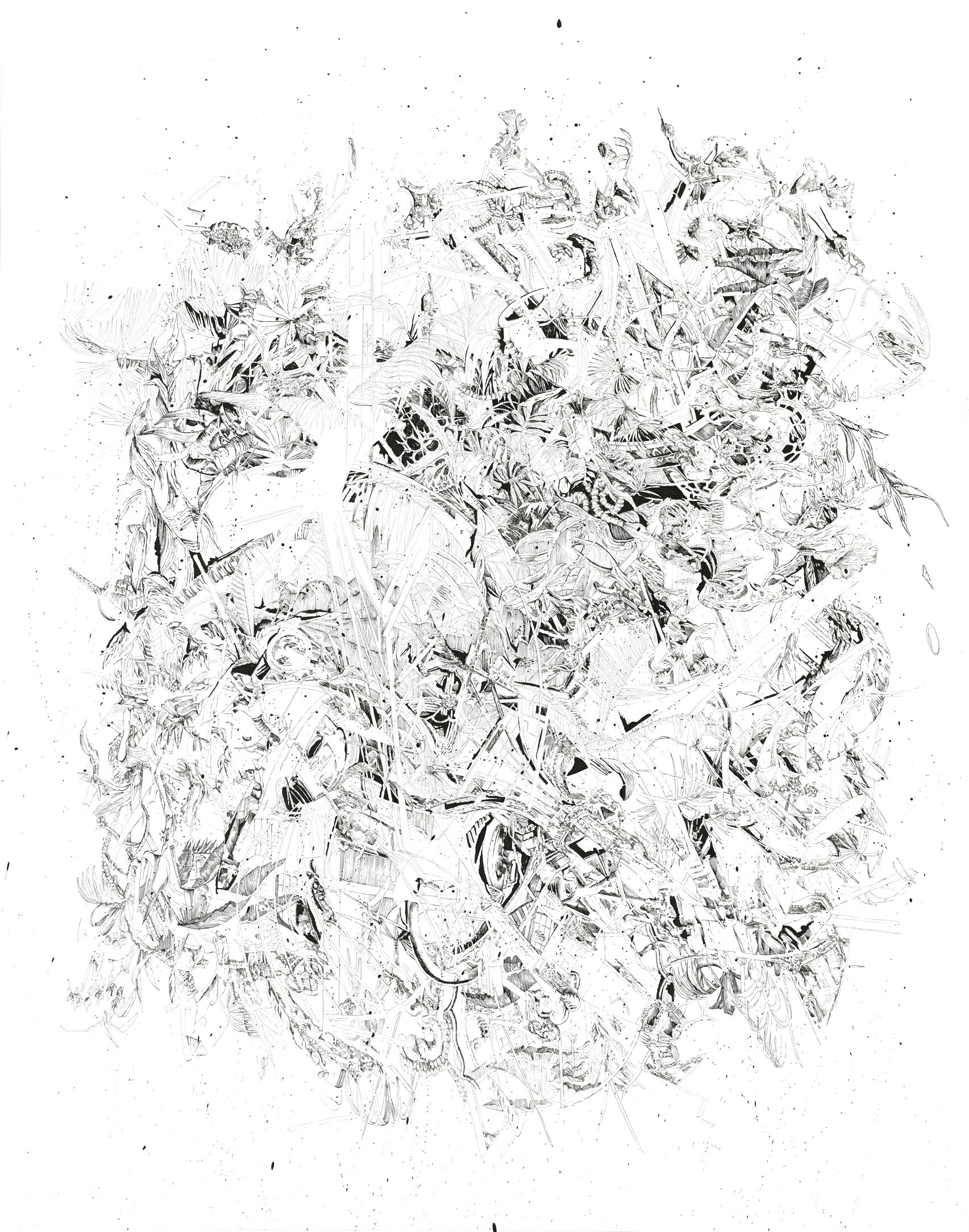 BK P159 | untitled | ink & a crylic on paper | 190x150cm | 2014 | privat collection zurich
