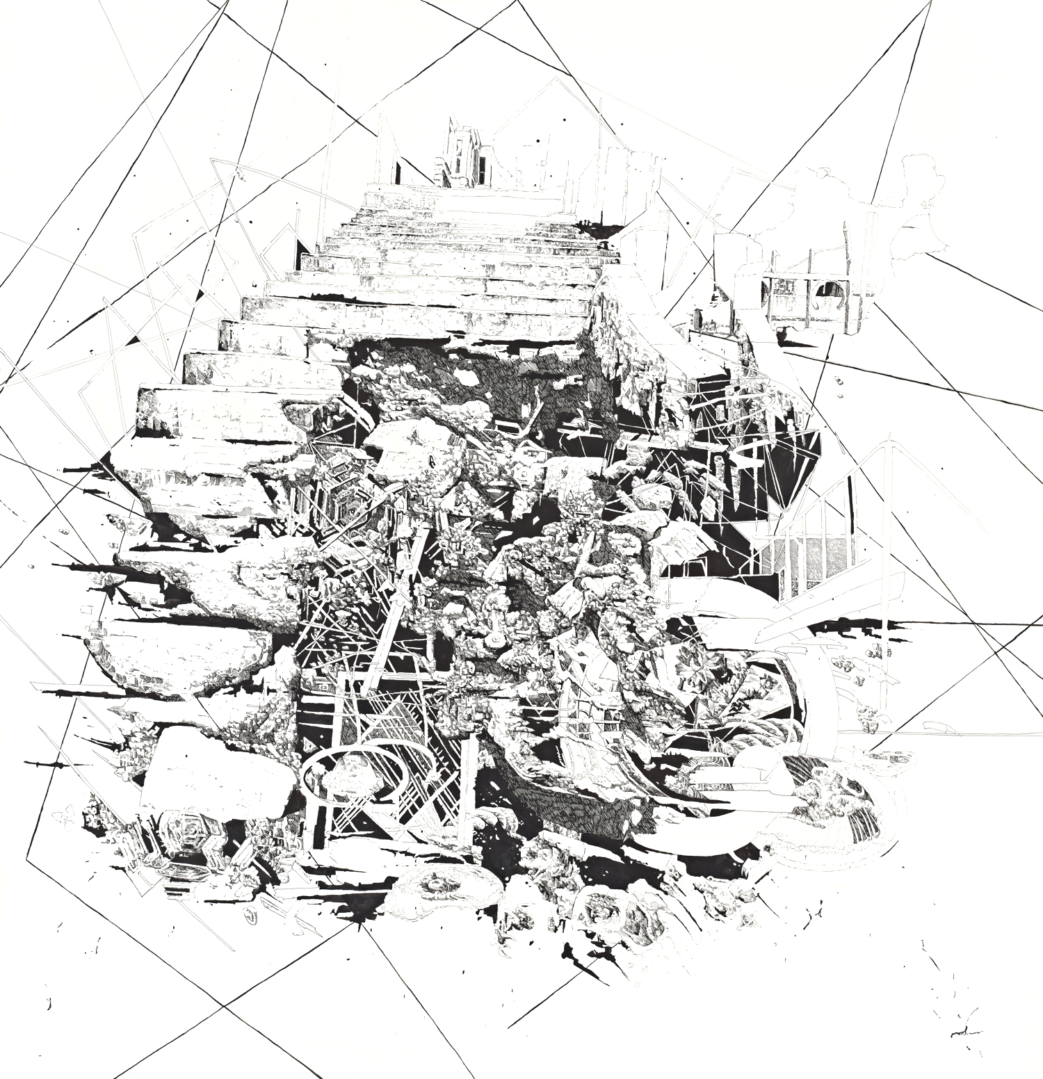BK P26 | untitled | ink on paper | 120x120cm | 2010