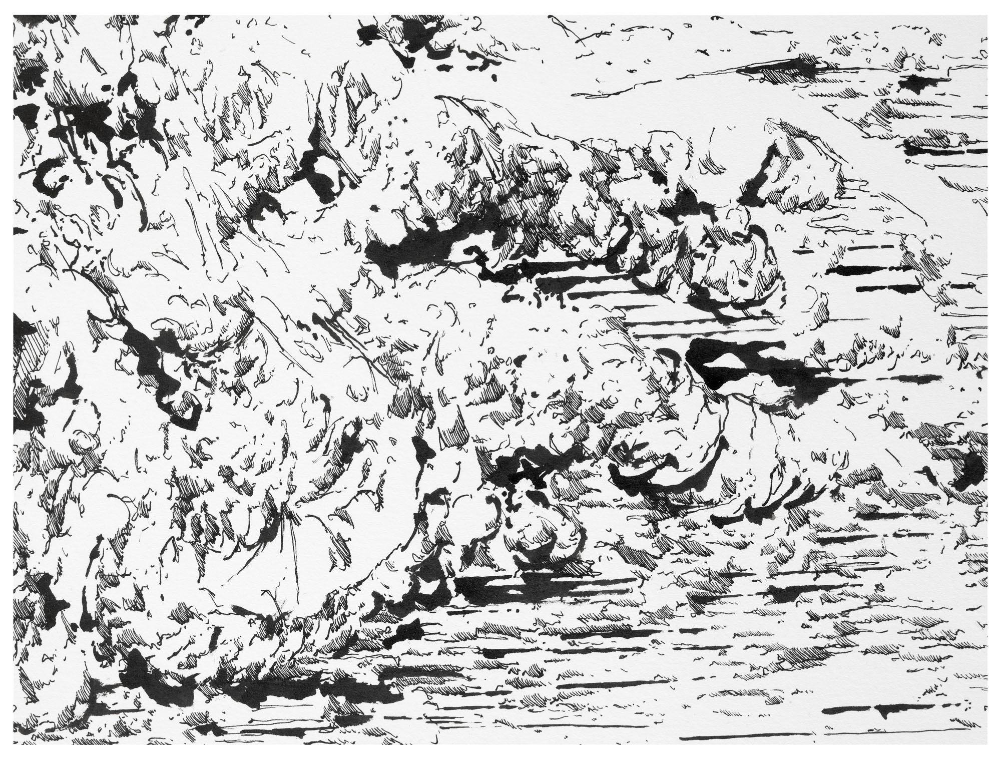 P 70 oT_2010_Tusche_auf_Papier_170x170cm_Detail3
