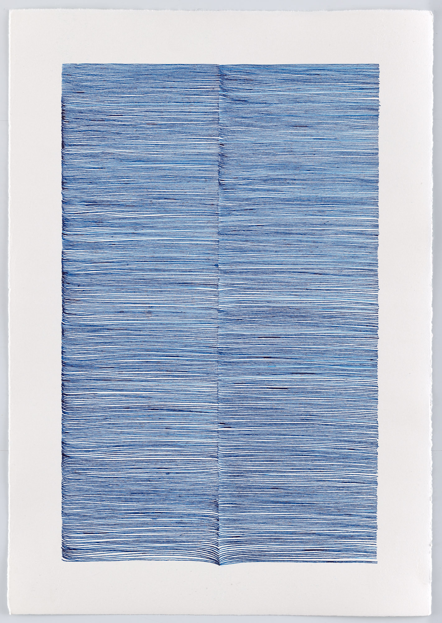 BK P13006 | untitled | blue ink on paper | 42x29cm | 2016 | private collection berlin