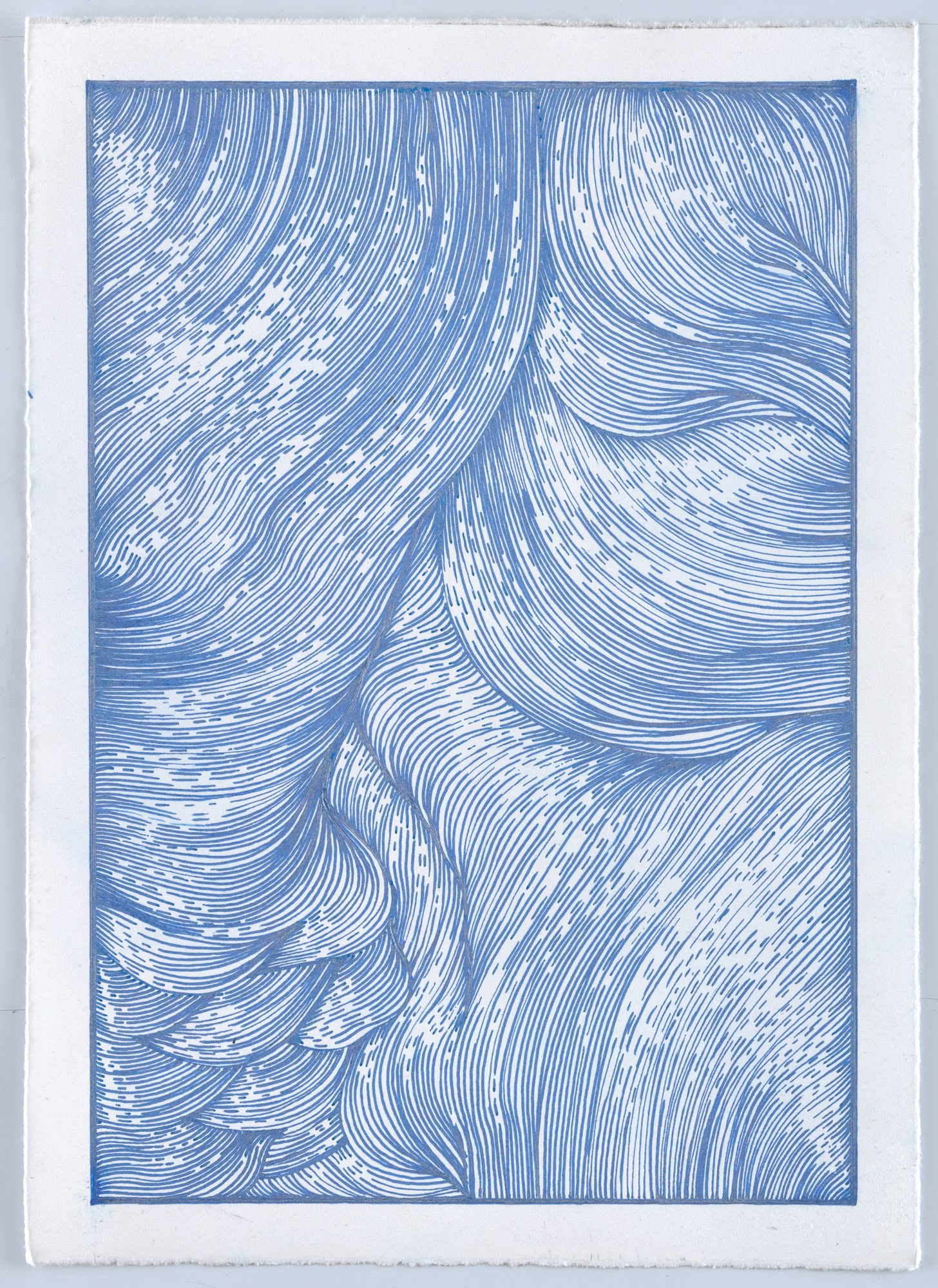 BK P13011 | untitled | blue metallic gloss paint marker on paper | 29,5x21cm | 2016 | privat collection berlin