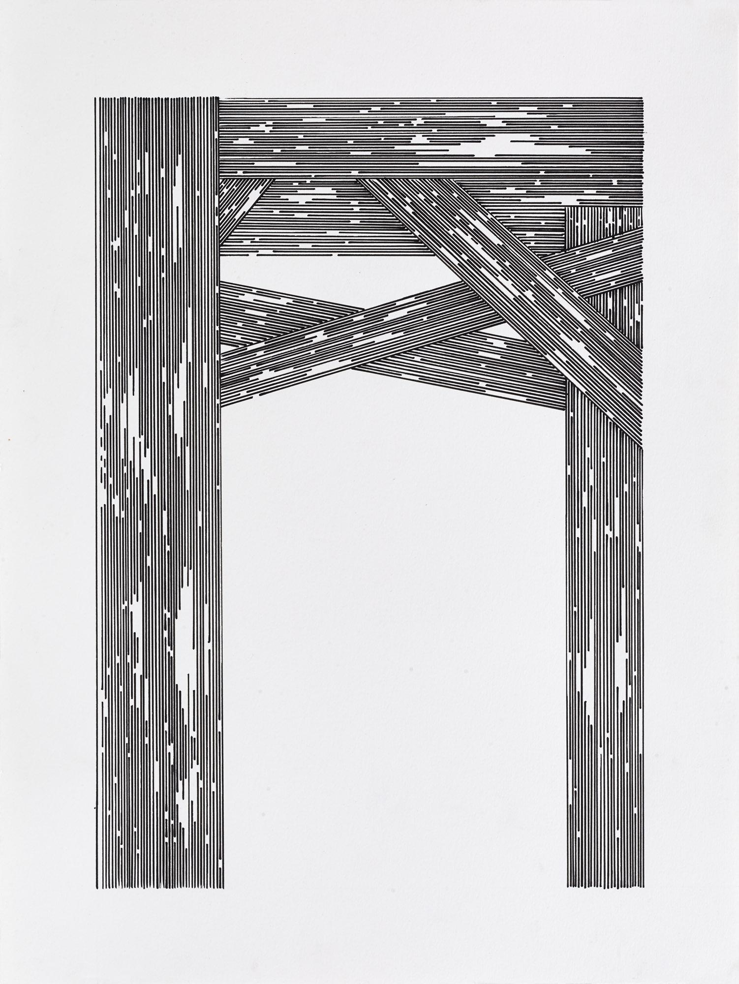 BK | P 7503 untitled | acrylic on paper | 40x30cm | 2015