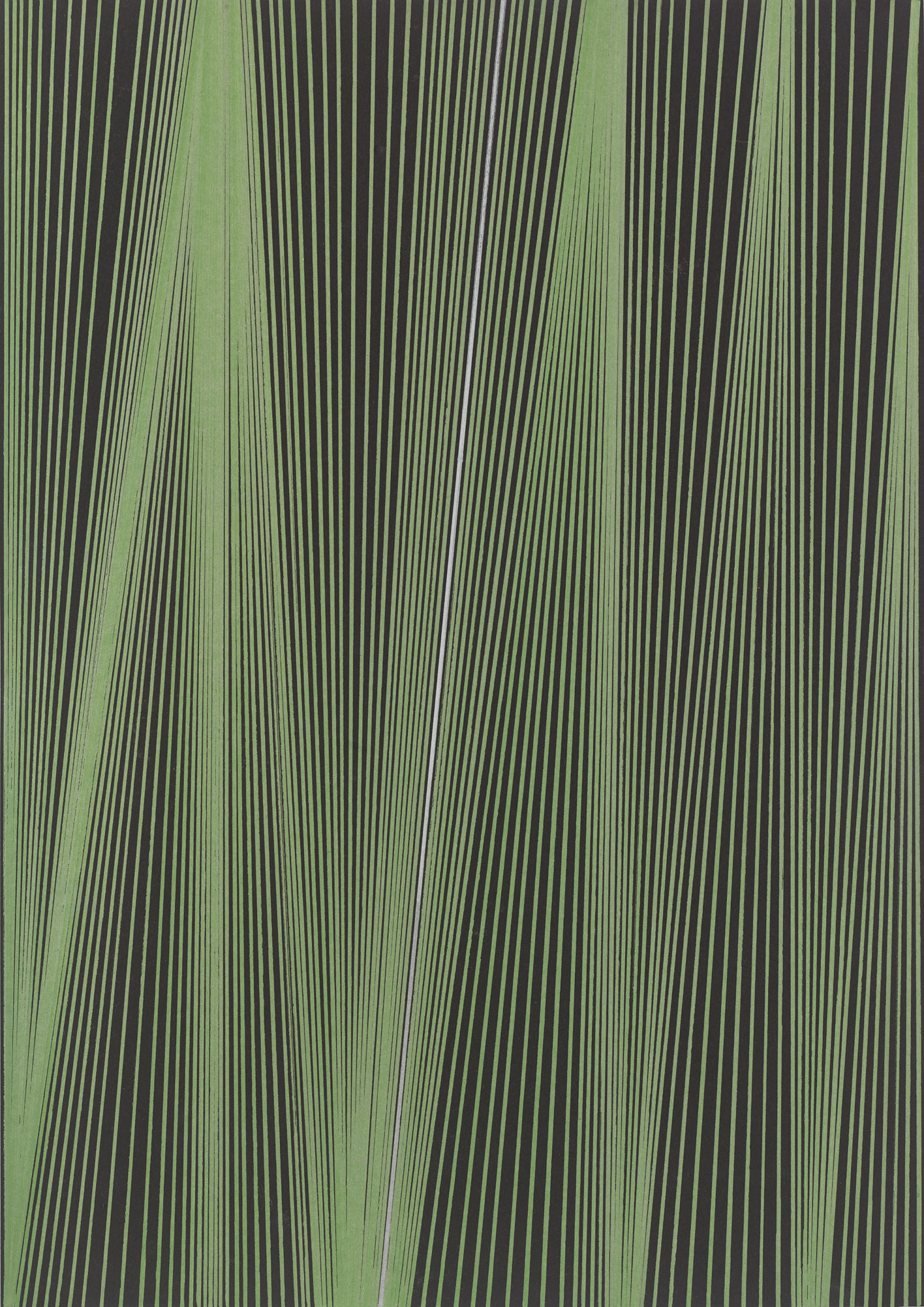 BK P44961 | UNTITLED | GREEN AND SILVER METALLIC ACRYLIC ON BLACK CARD BOARD | 42 X 29,7 CM | 2019.jpg