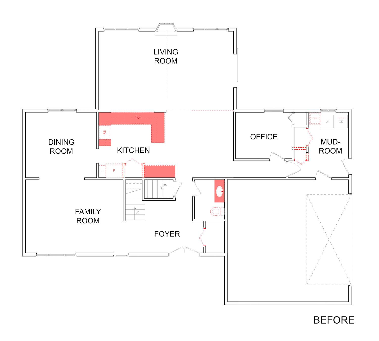 Kitchen Floor Plan Before Renovation