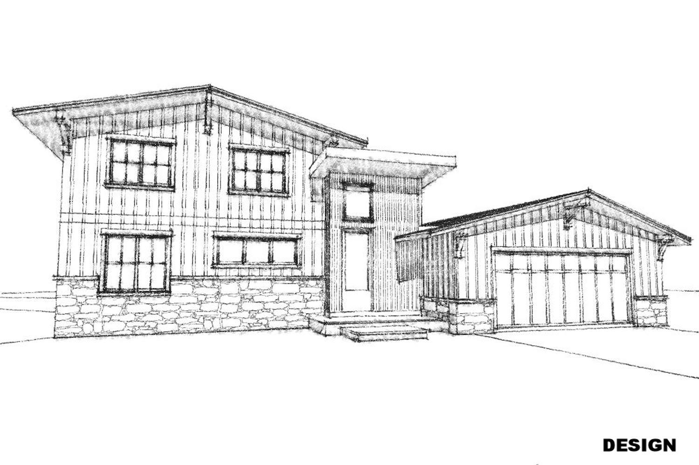 Hand Sketch of New Exterior Design