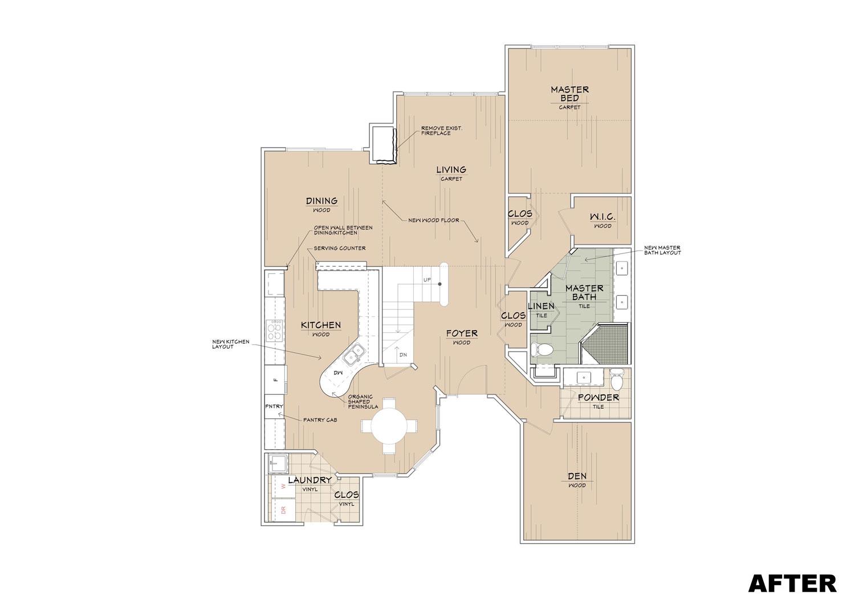 Redesigned Floorplan