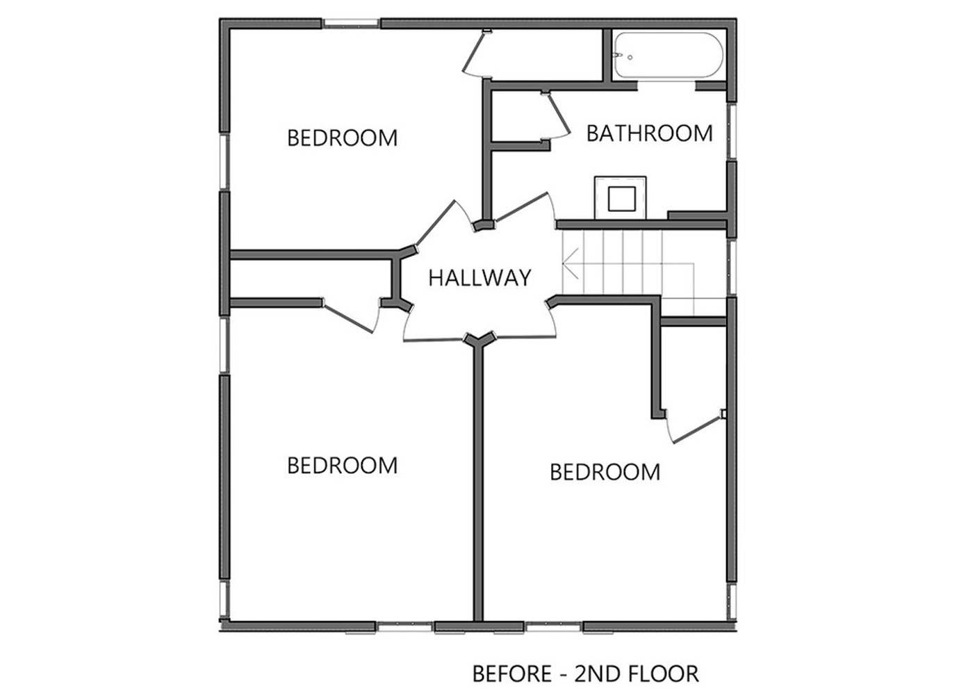 Second Story PRE-  CONSTRUCTION Floor Plan
