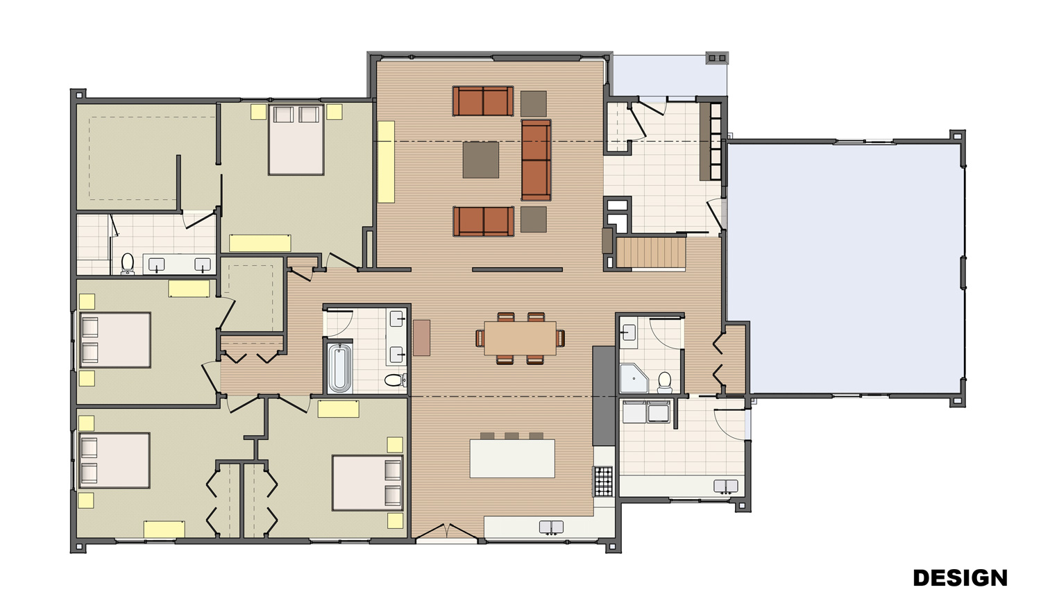 Redesigned Floor plan with Addition