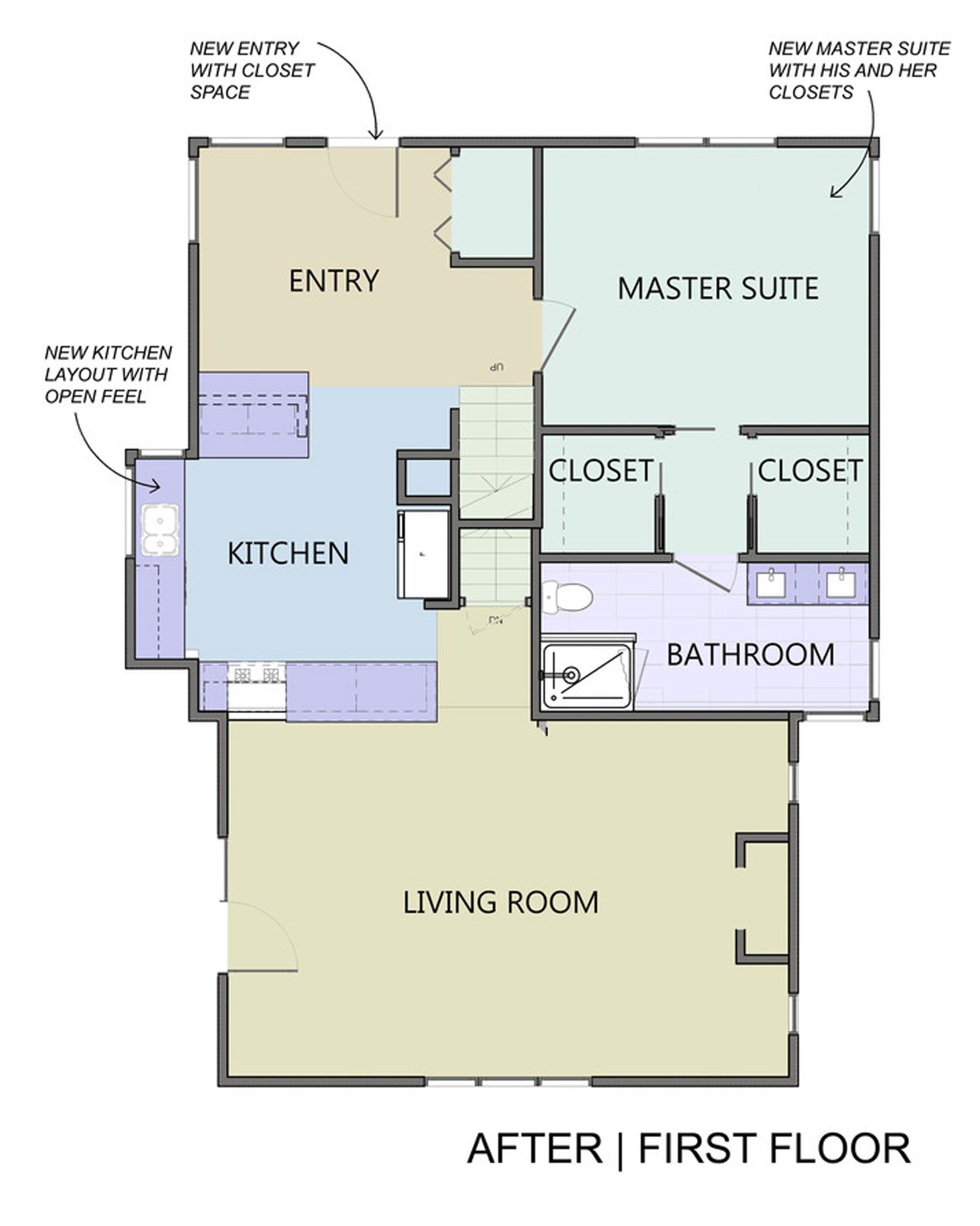 Redesigned Floor Plan Home Addition