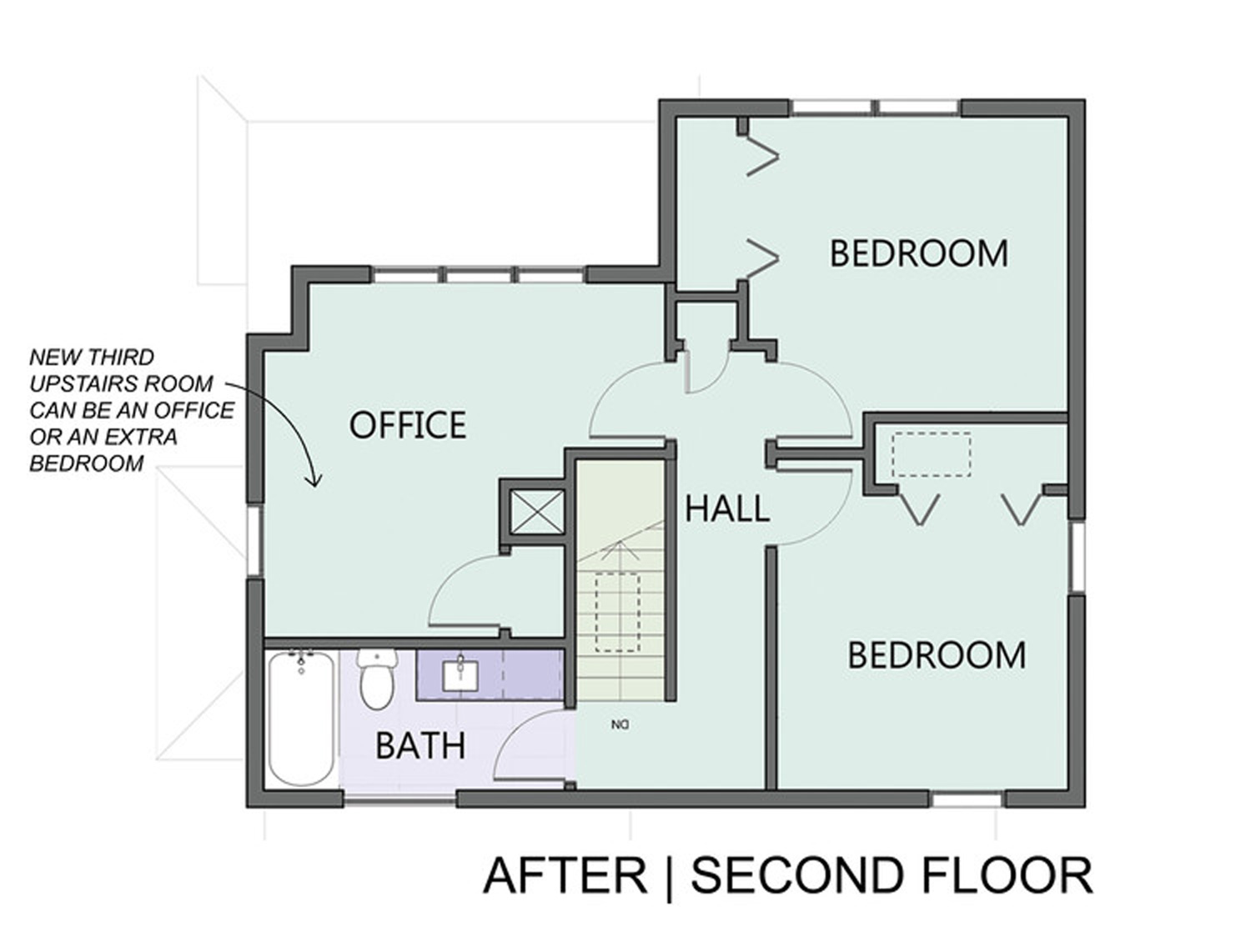 Redesigned Floor Plan Second Story