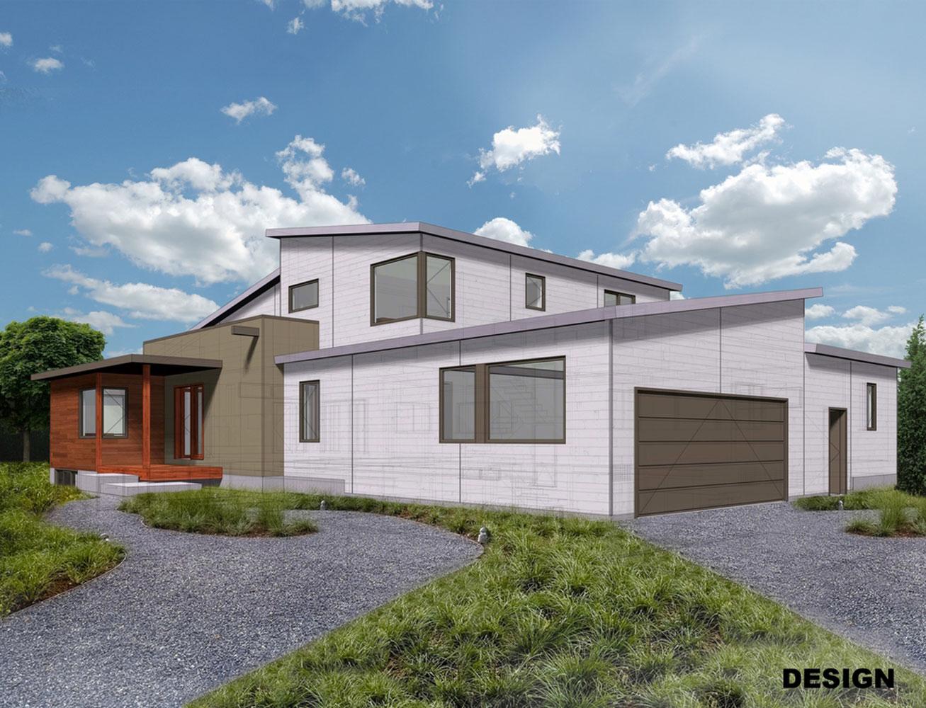Custom Home Illustration Exterior