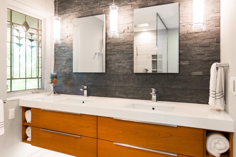 Master Suite Bathroom Vanity Countertop Materials for a Remodel Ann Arbor MI