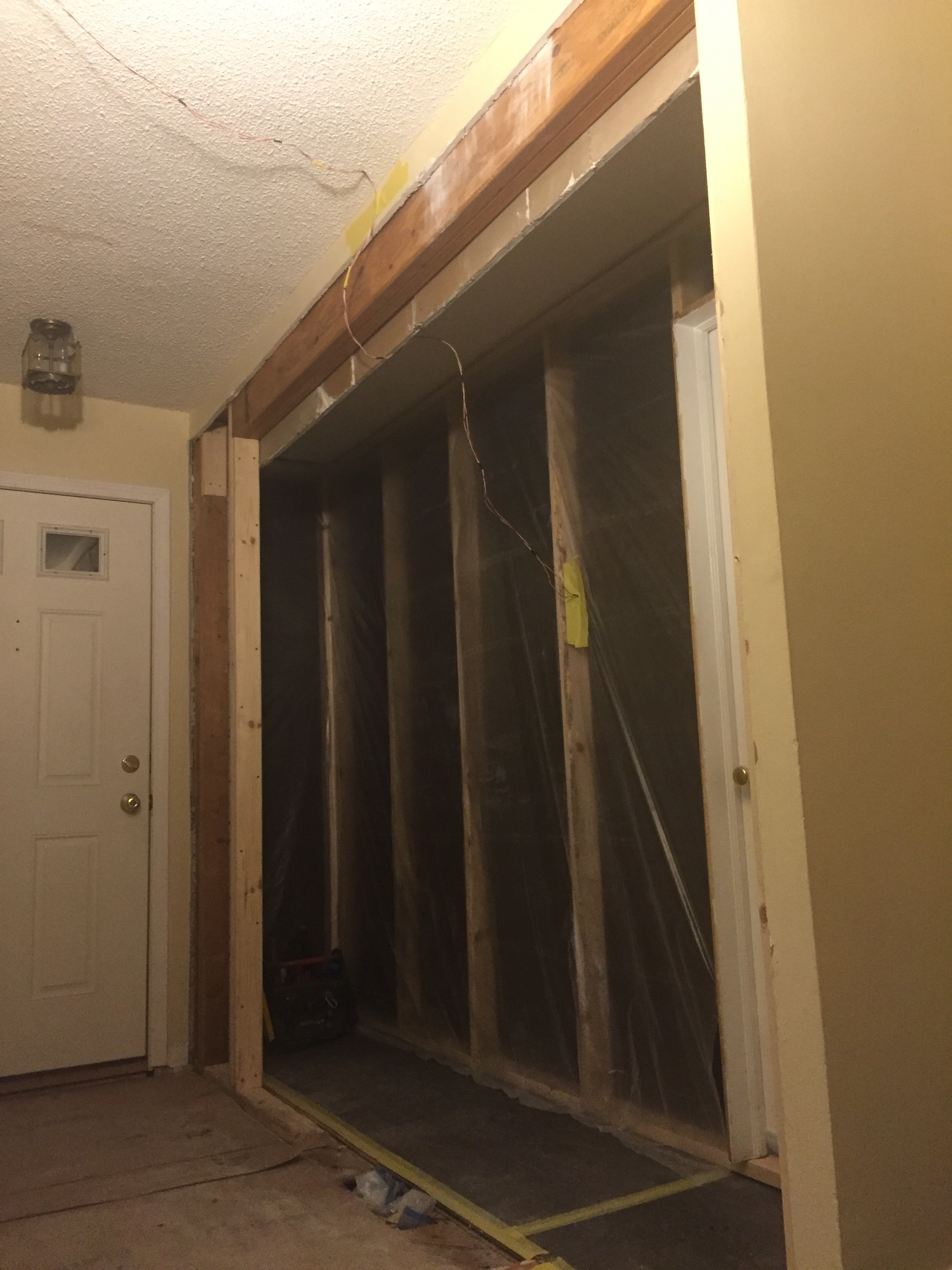 A_the dust wall at the new enlarged entry hallway.JPG